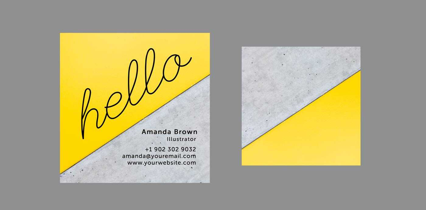 10 Clean & Simple Business Card Templates Perfect For Any In Freelance Business Card Template