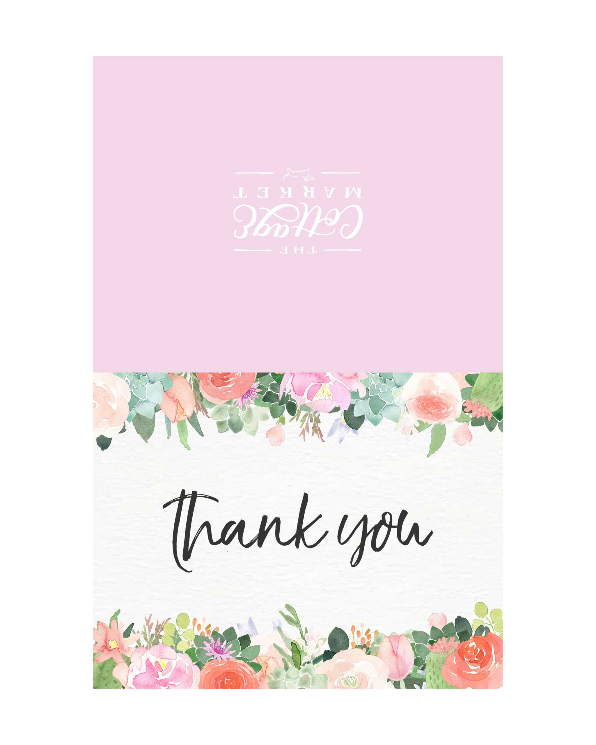 10 Free Printable Thank You Cards You Can't Miss - The Within Free Printable Thank You Card Template