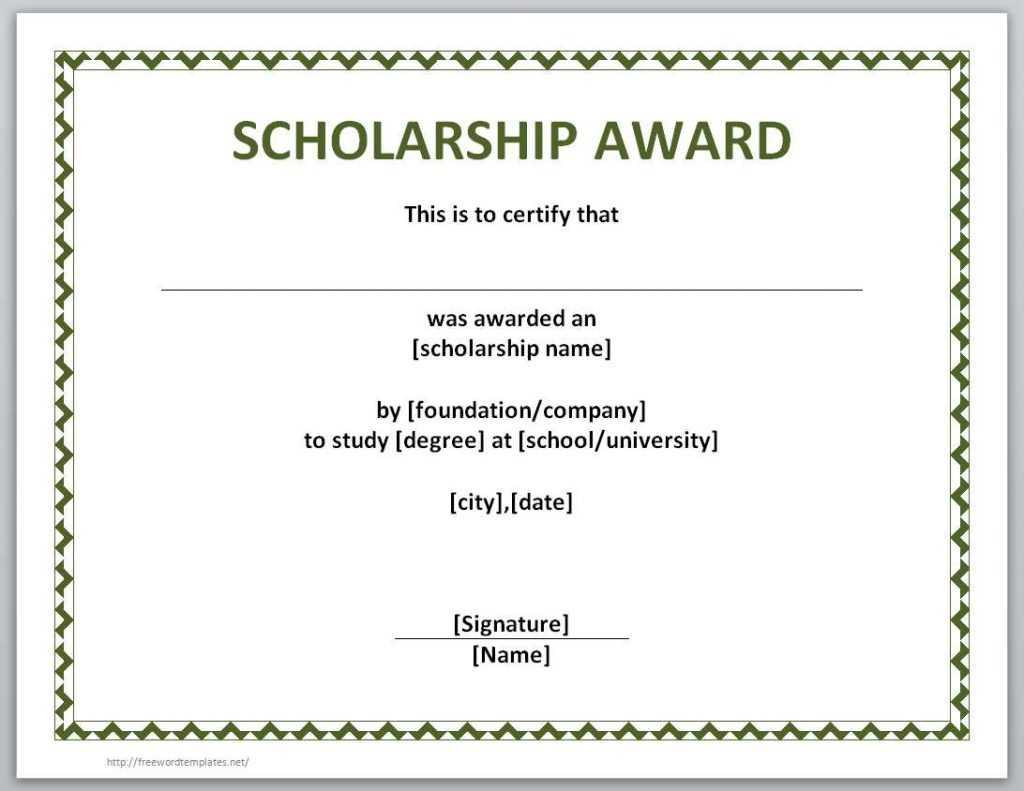 10+ Scholarship Award Certificate Examples - Pdf, Psd, Ai Inside Scholarship Certificate Template