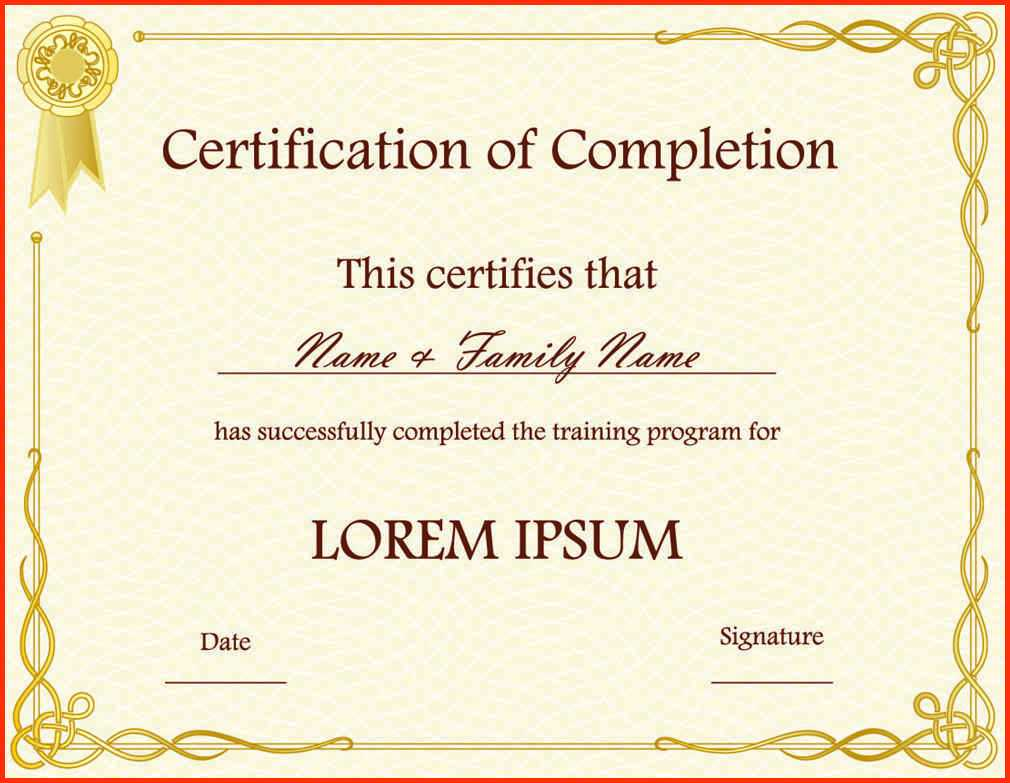 10 Template For A Certificate Of Completion | Business Letter Inside Ged Certificate Template