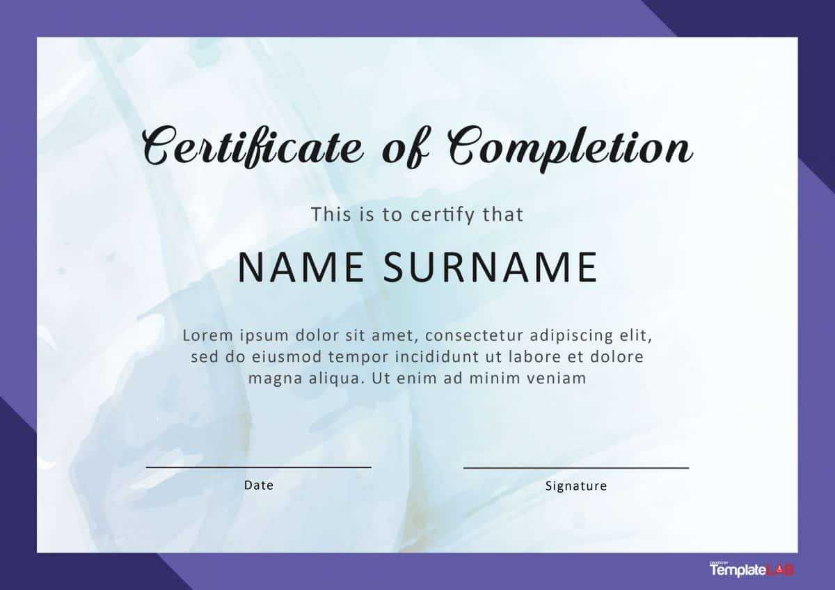 10 Template For A Certificate Of Completion | Business Letter Pertaining To Certification Of Completion Template