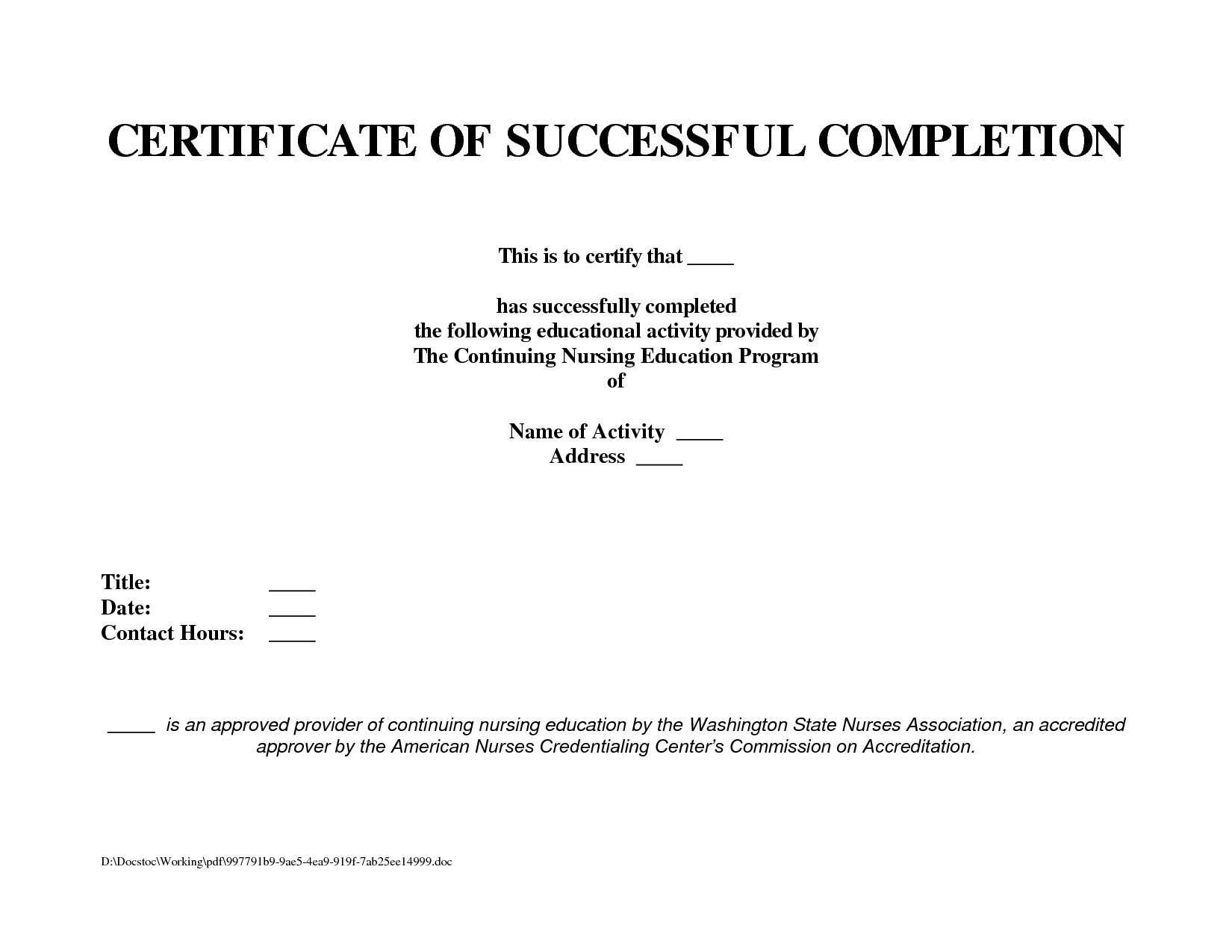 10 Template For A Certificate Of Completion | Business Letter With Certificate Template For Project Completion