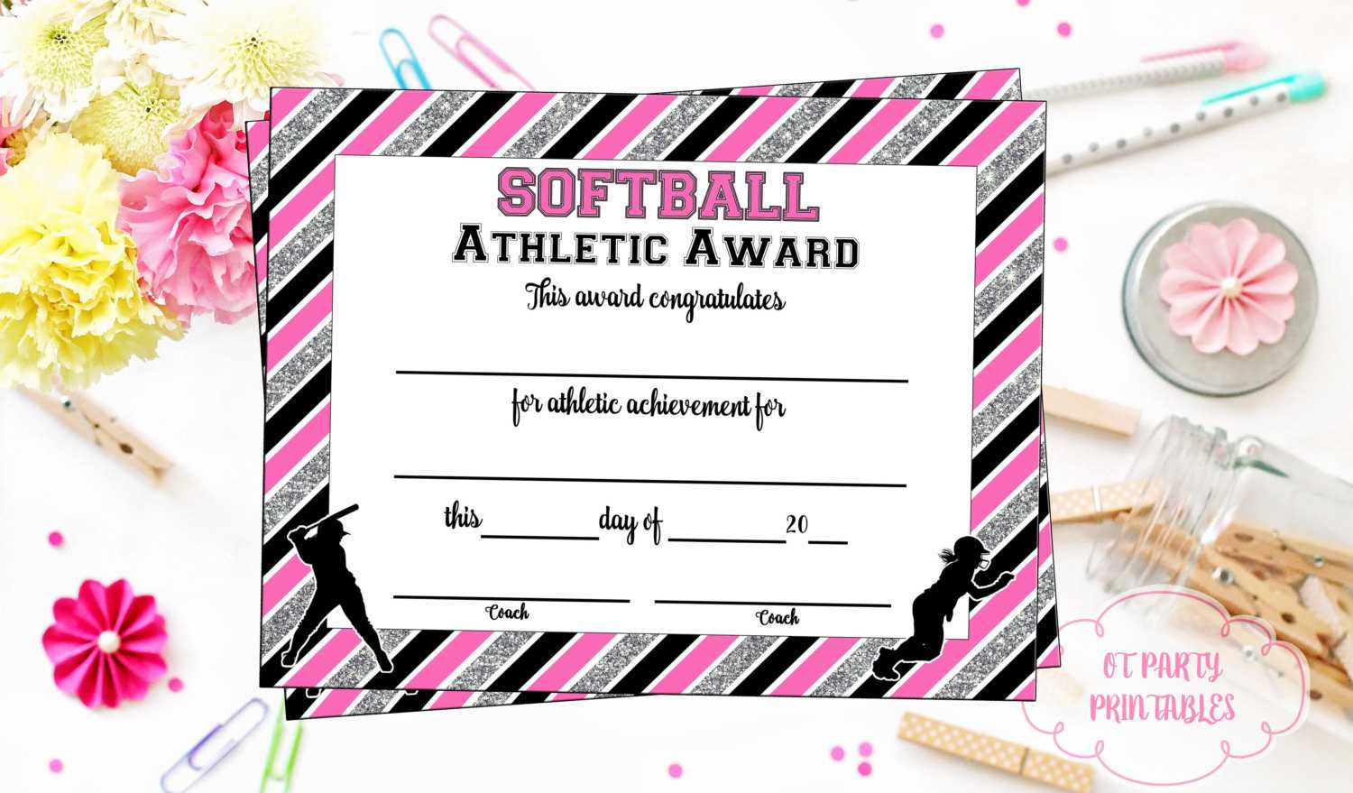 100+ [ Sports Award Certificate Template ] | 100 Sports With Regard To Softball Certificate Templates Free