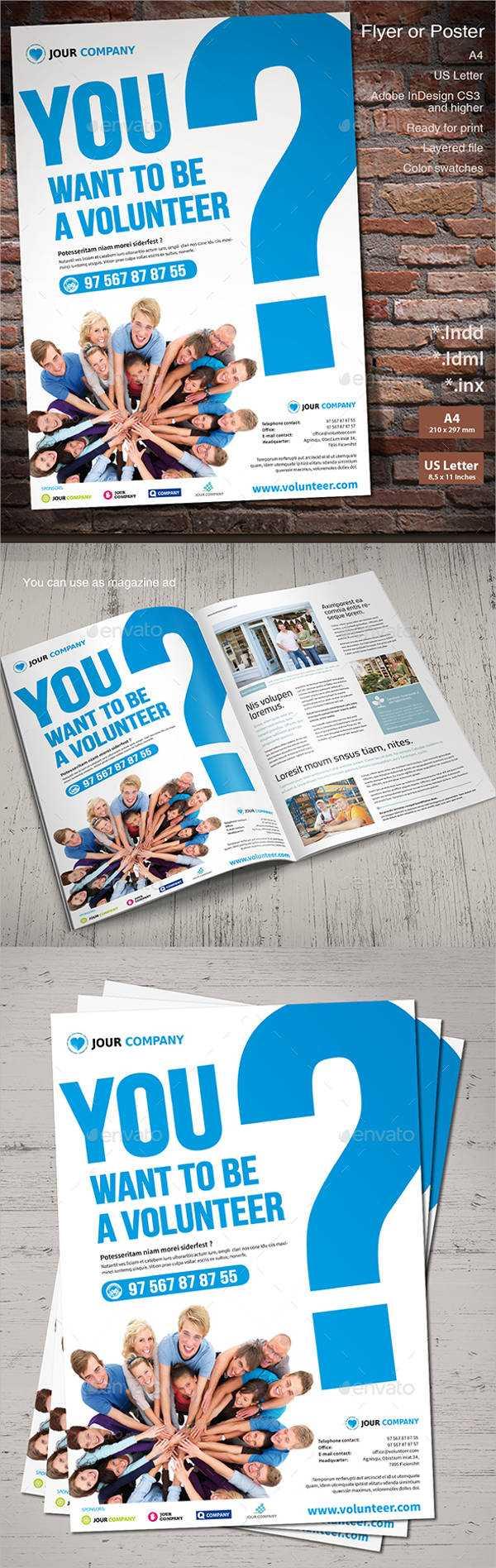 11+ Volunteer Flyers - Ms Word, Pages, Psd, Vector Eps In Volunteer Brochure Template