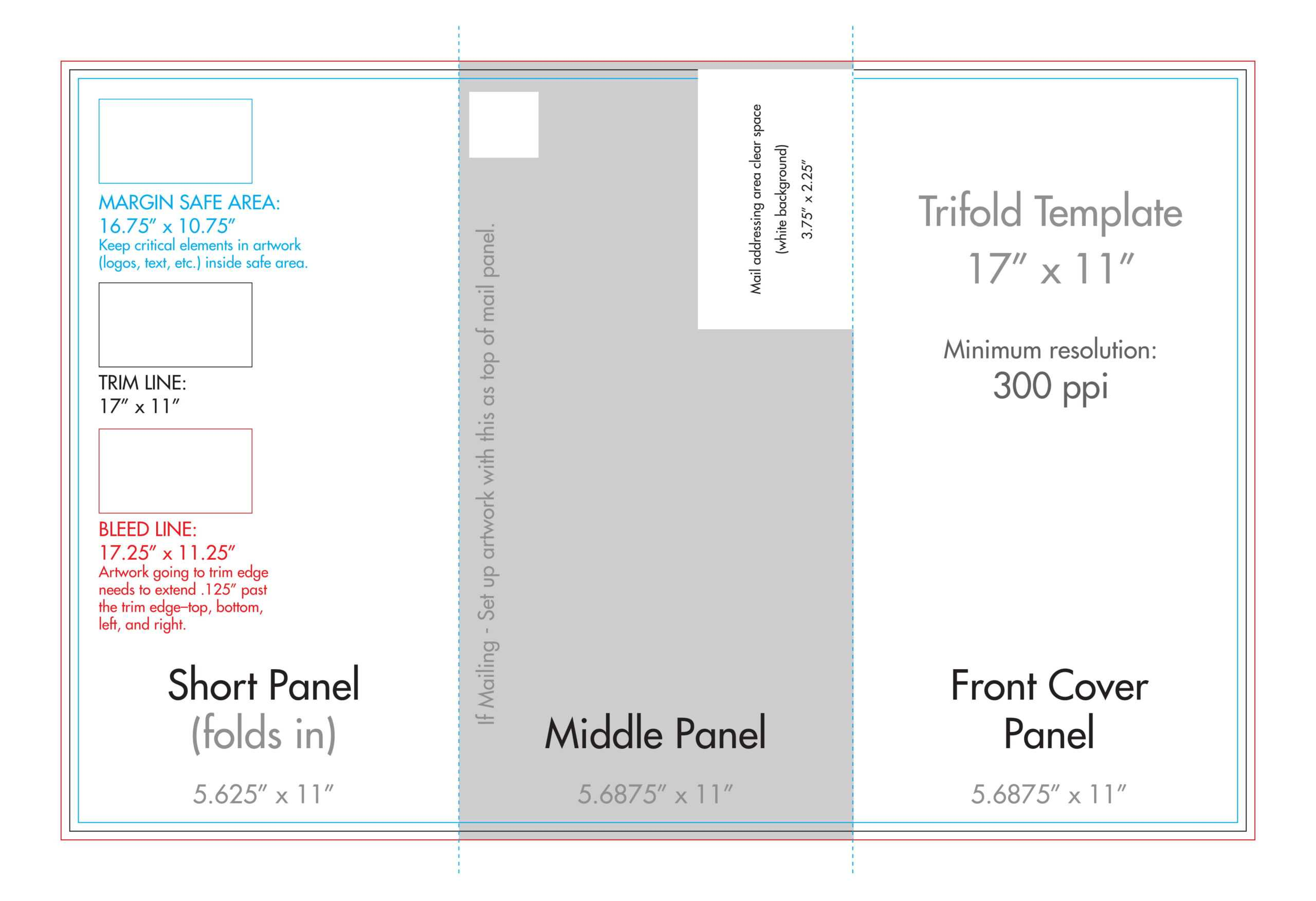 "11"" X 17"" Tri Fold Brochure Template - U.s. Press Intended For 11X17 Brochure Template"