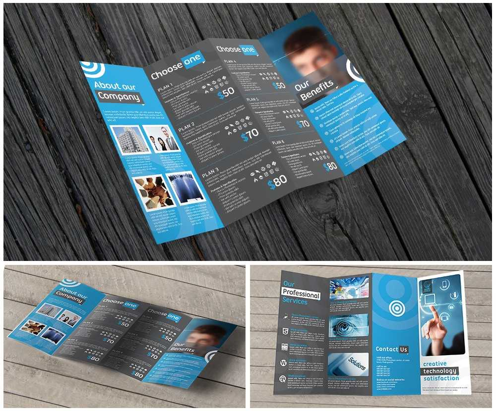 11X17 Quad Fold Brochure Printing Within Quad Fold Brochure Template