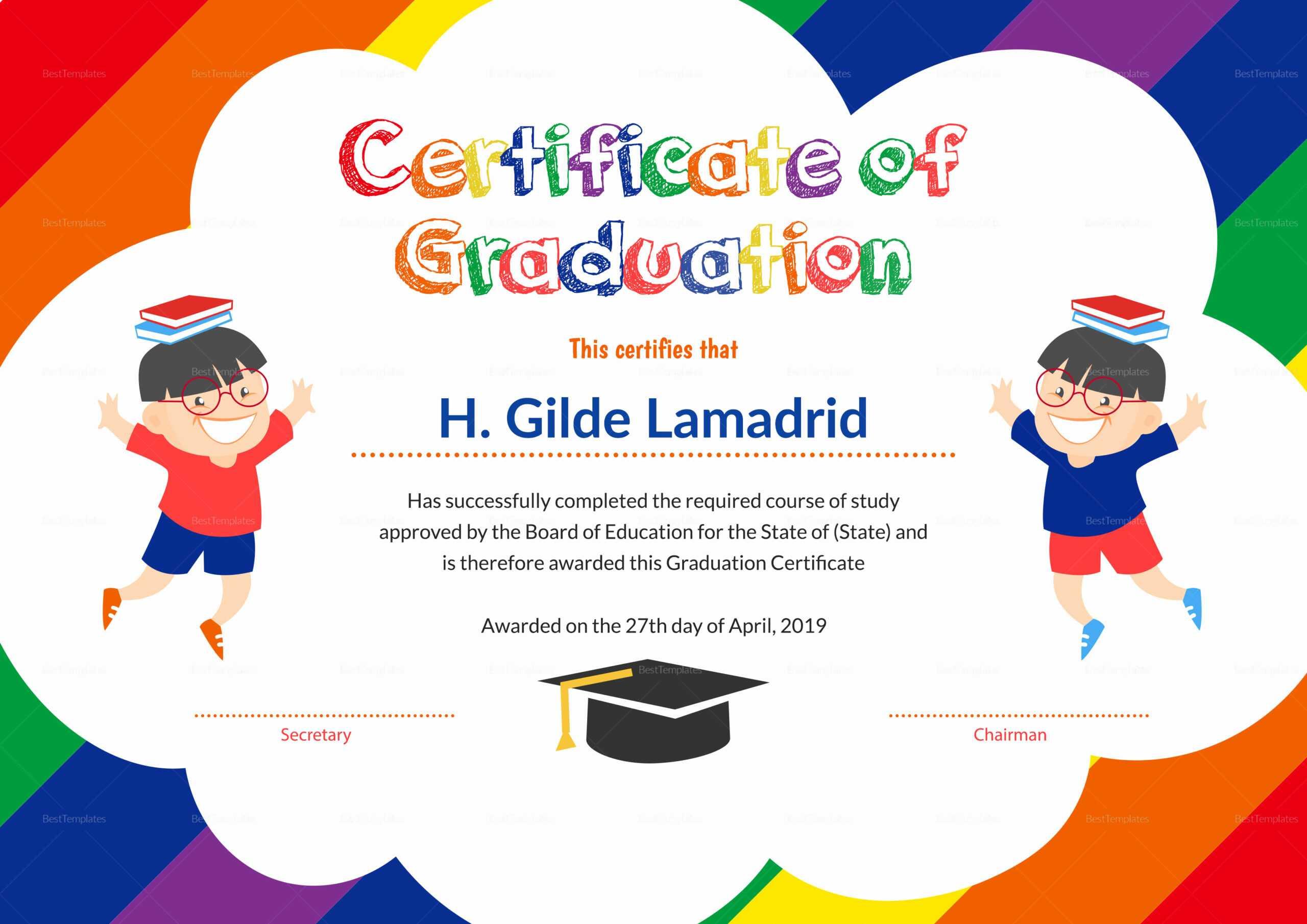 12 Unique Preschool Graduation Certificate Template Free In Preschool Graduation Certificate Template Free
