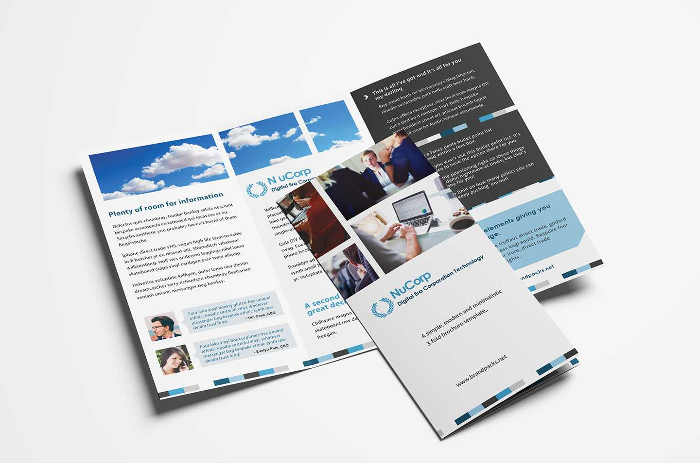 15 Free Tri Fold Brochure Templates In Psd & Vector - Brandpacks Intended For Tri Fold Brochure Ai Template