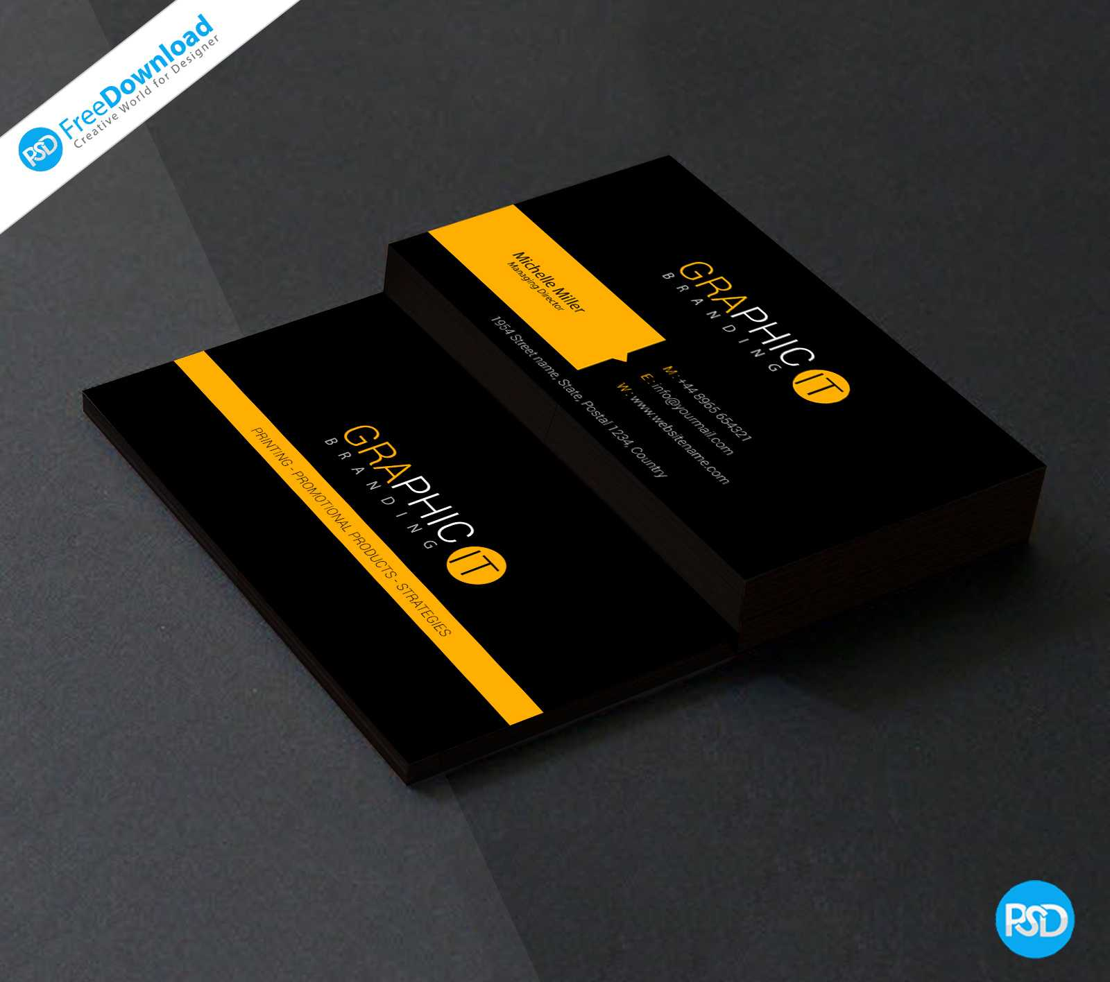 150+ Free Business Card Psd Templates With Regard To Free Psd Visiting Card Templates Download