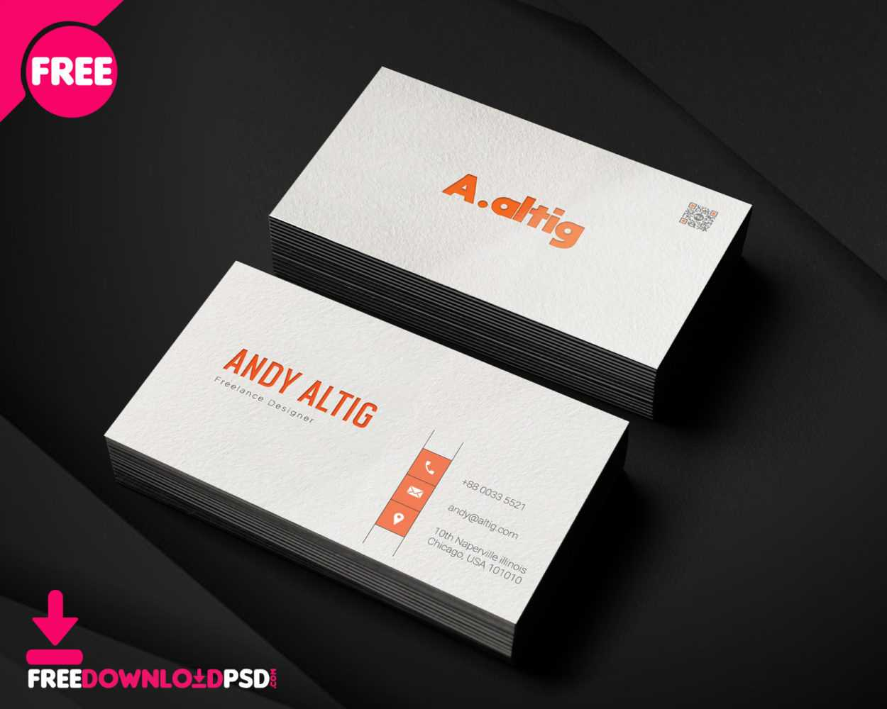150+ Free Business Card Psd Templates Within Freelance Business Card Template