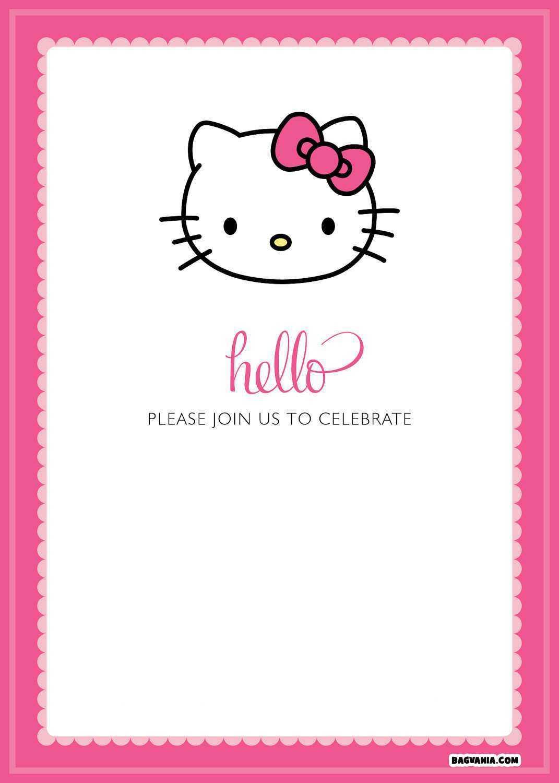 16 Creative Hello Kitty Birthday Invitation Template Free With Hello Kitty Birthday Card Template Free