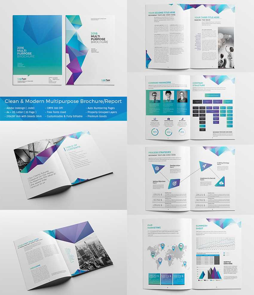 20 Кращих Шаблонів Indesign Brochure - Для Творчого In Adobe Indesign Brochure Templates