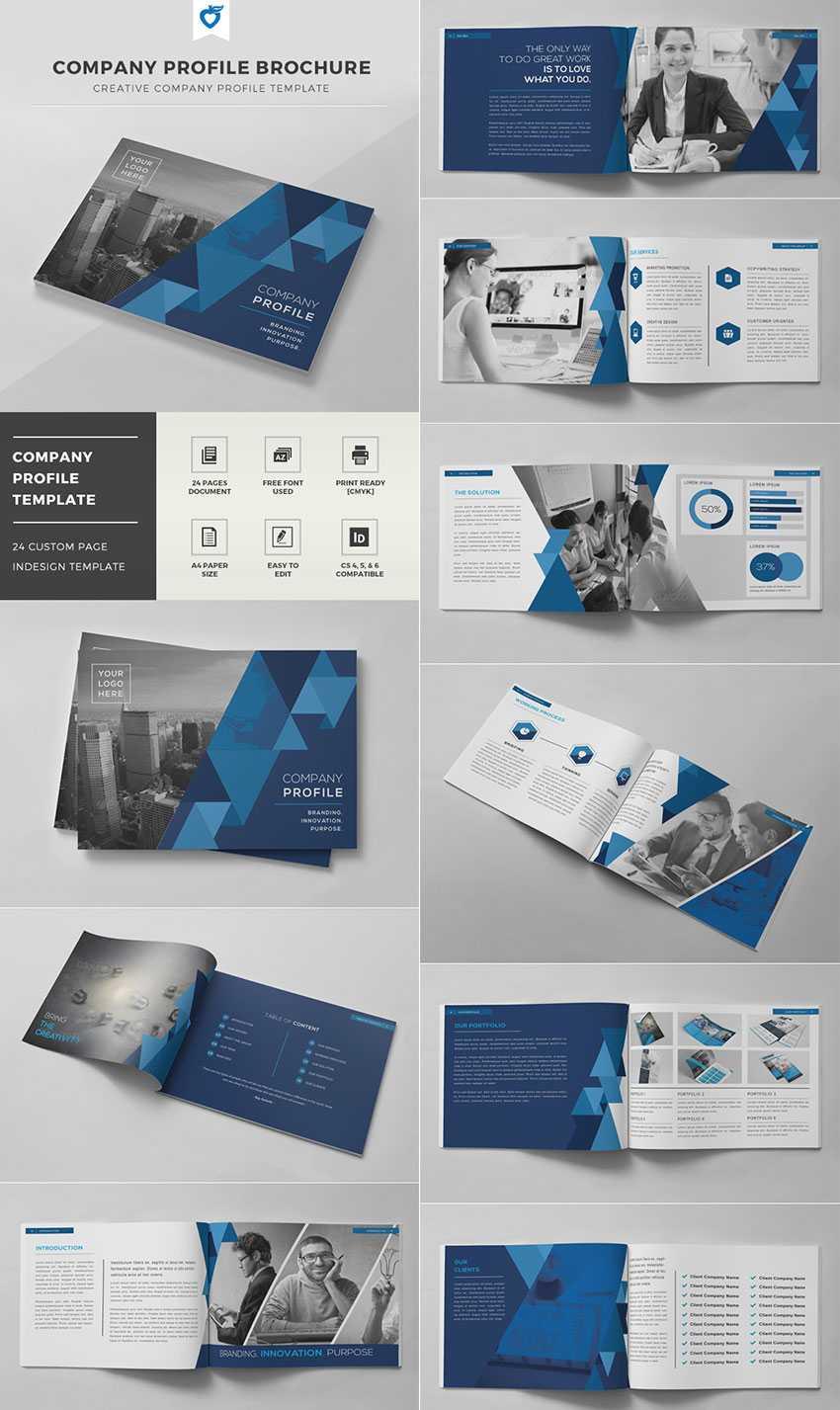 20 Кращих Шаблонів Indesign Brochure - Для Творчого Intended For Brochure Template Indesign Free Download