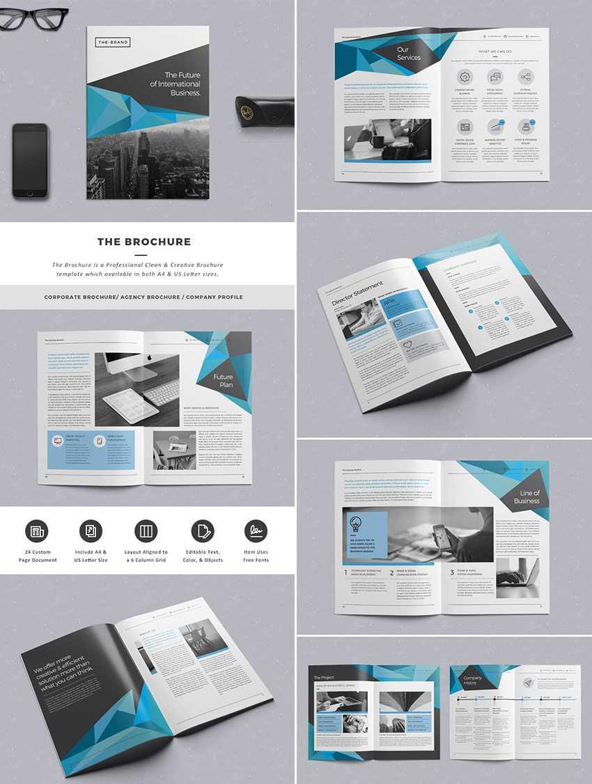 20 Кращих Шаблонів Indesign Brochure – Для Творчого Throughout Adobe Indesign Brochure Templates