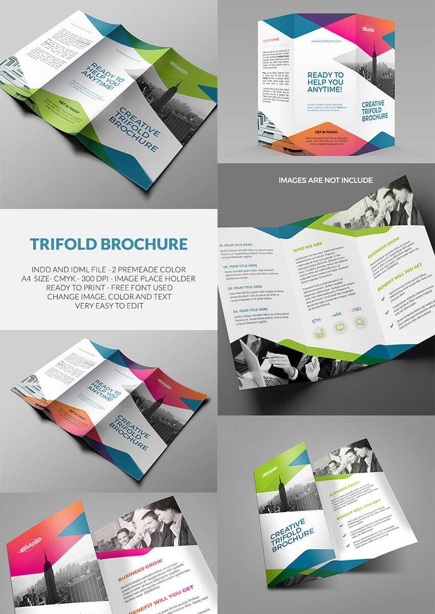 20 Лучших Шаблонов Indesign Brochure - Для Творческого throughout Tri Fold Brochure Template Indesign Free Download