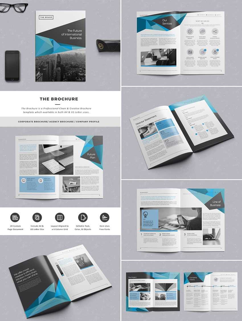 20 Лучших Шаблонов Indesign Brochure - Для Творческого within Indesign Templates Free Download Brochure