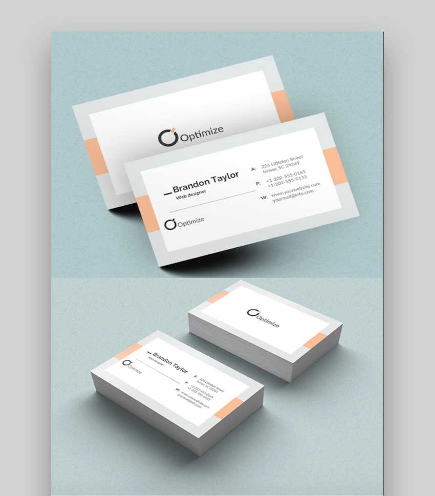 20+ Double Sided, Vertical Business Card Templates (Word, Or Intended For 2 Sided Business Card Template Word