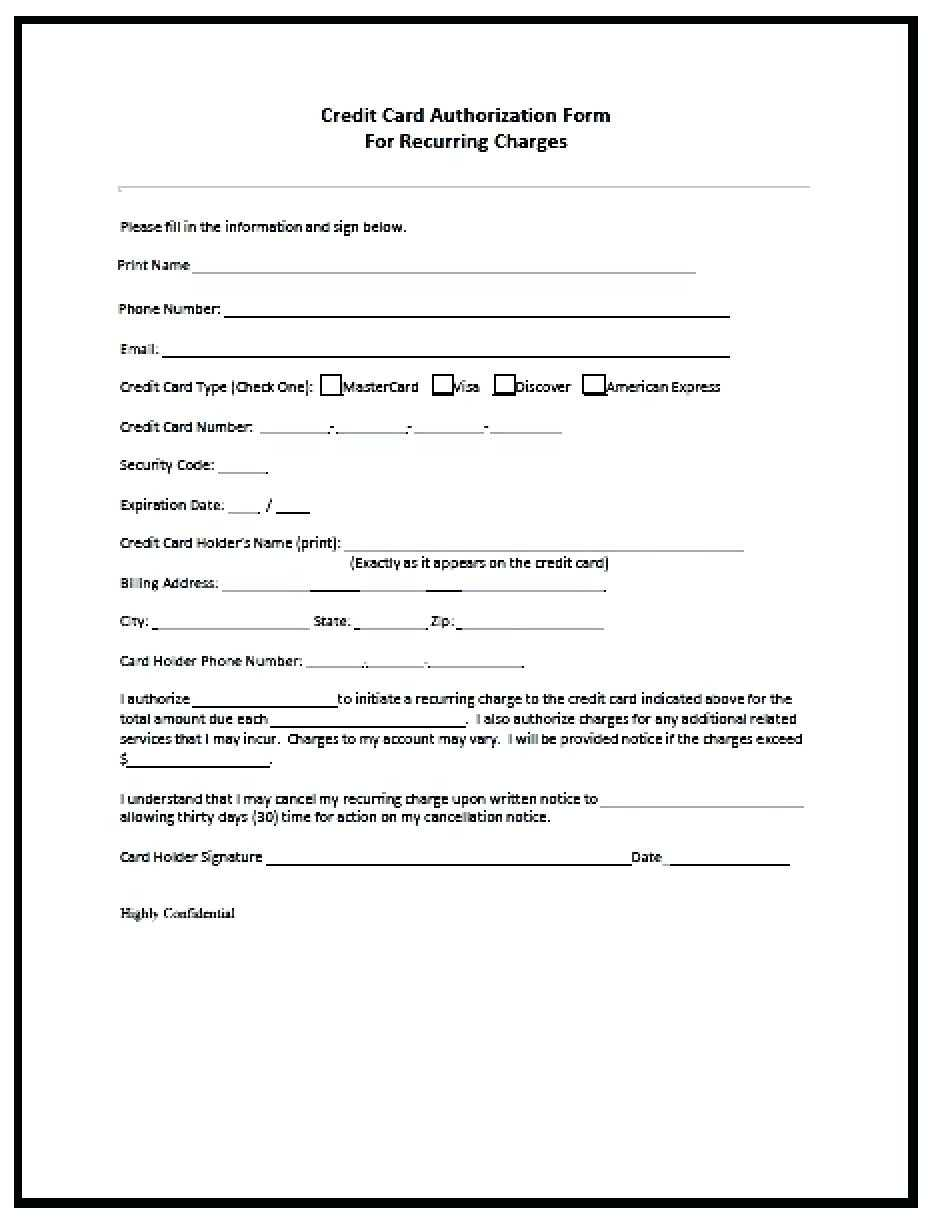 23+ Credit Card Authorization Form Template Pdf Fillable 2020!! Intended For Authorization To Charge Credit Card Template