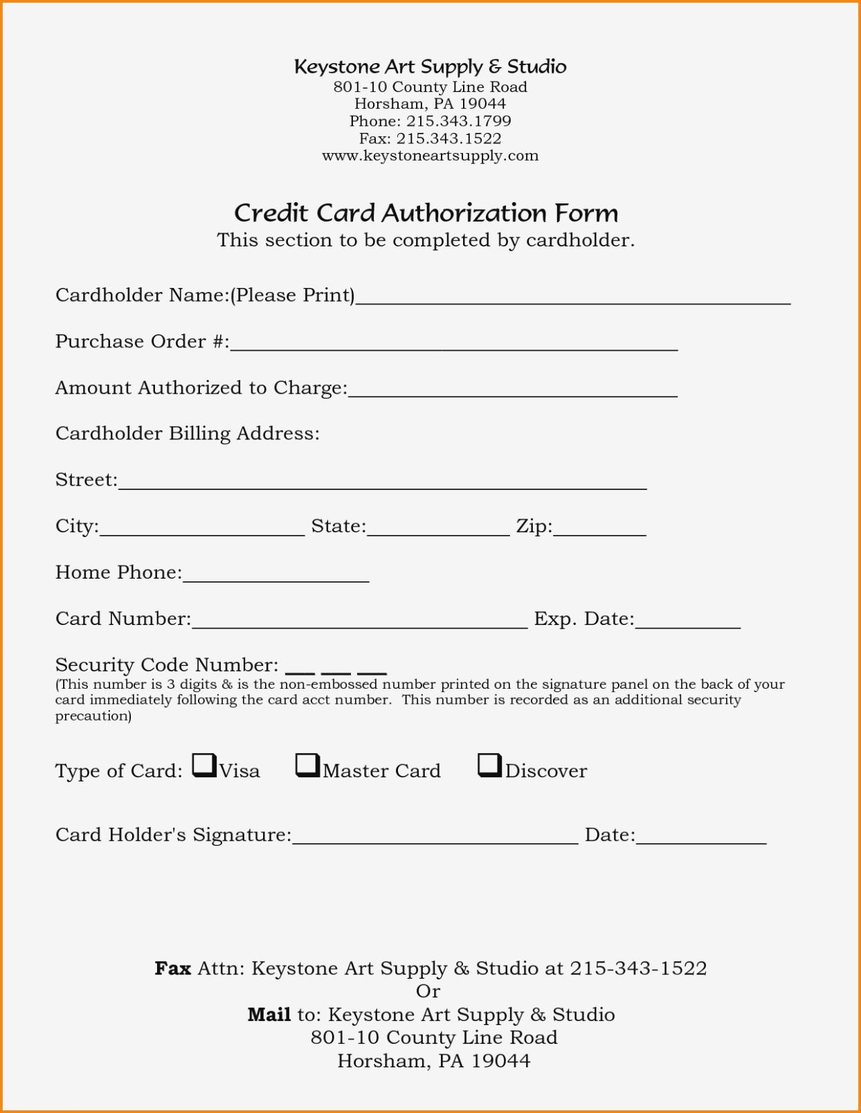23+ Credit Card Authorization Form Template Pdf Fillable 2020!! Within Credit Card Payment Form Template Pdf