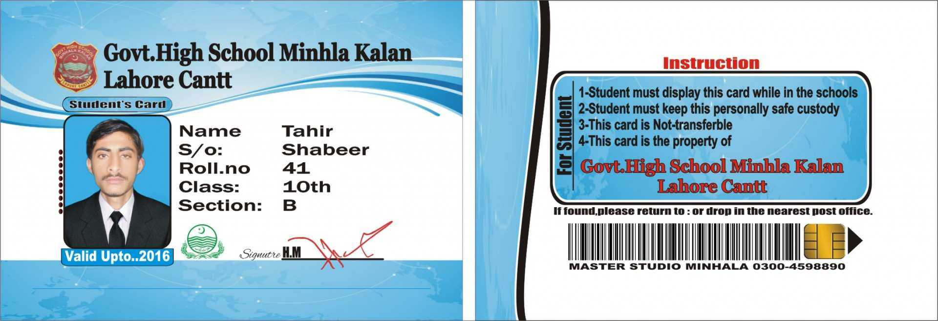 23 The Best College Id Card Template Psd Free Download Maker In High School Id Card Template