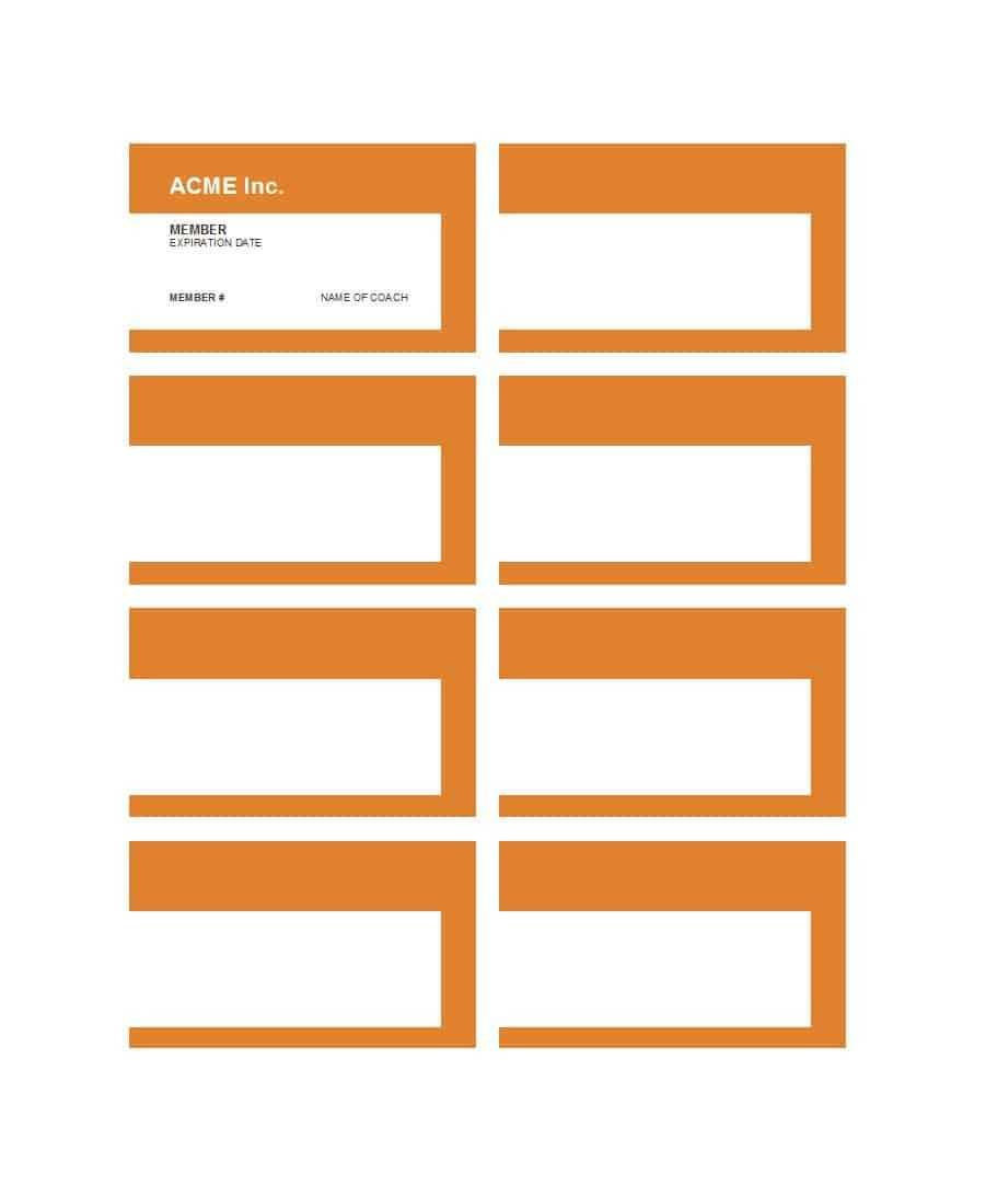 25 Cool Membership Card Templates & Designs (Ms Word) ᐅ Throughout Template For Membership Cards
