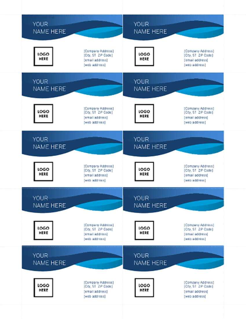 25+ Free Microsoft Word Business Card Templates (Printable With Regard To Microsoft Office Business Card Template