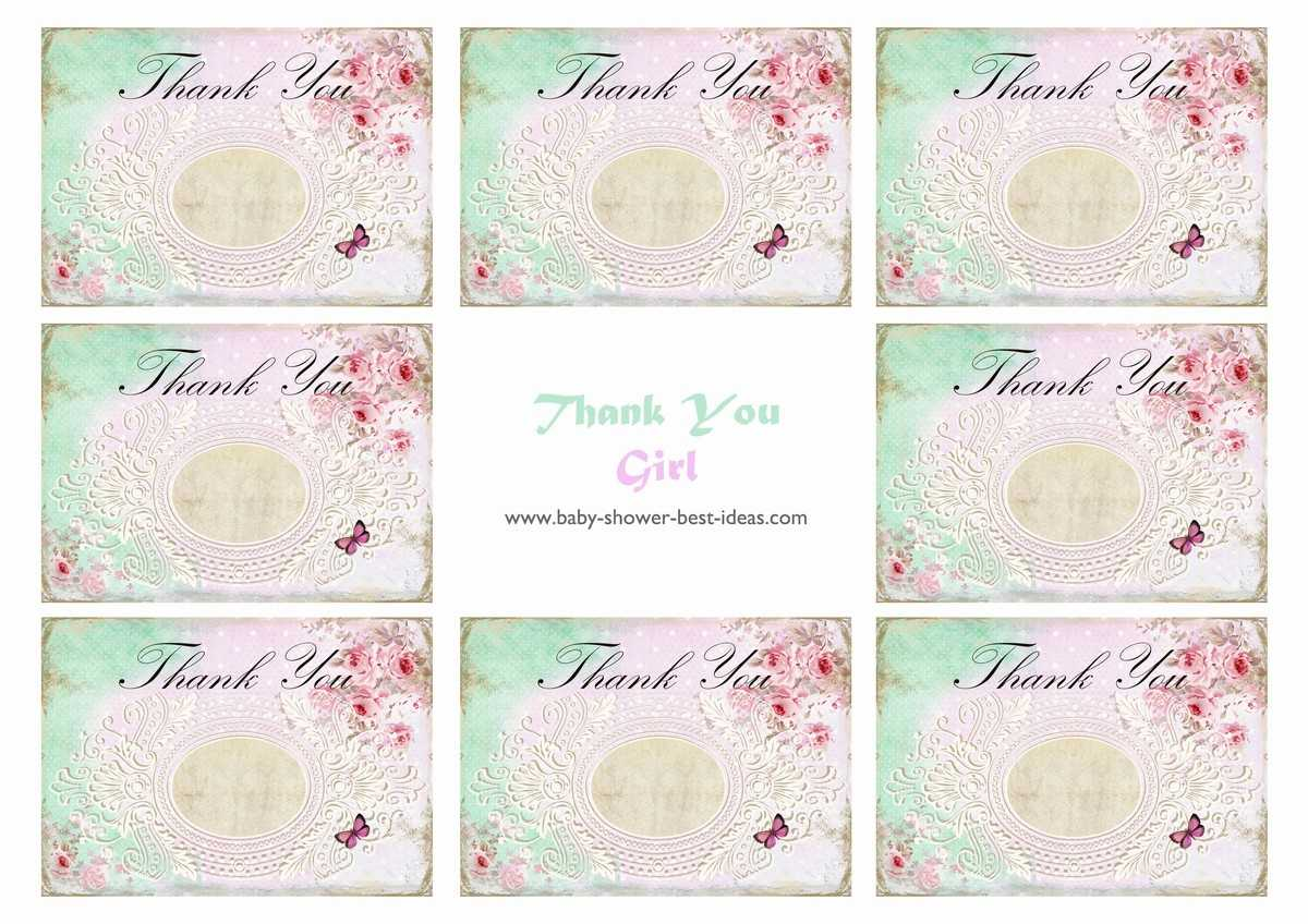 26 Lovely Baby Shower Card Printable - Baby Shower Within Template For Baby Shower Thank You Cards