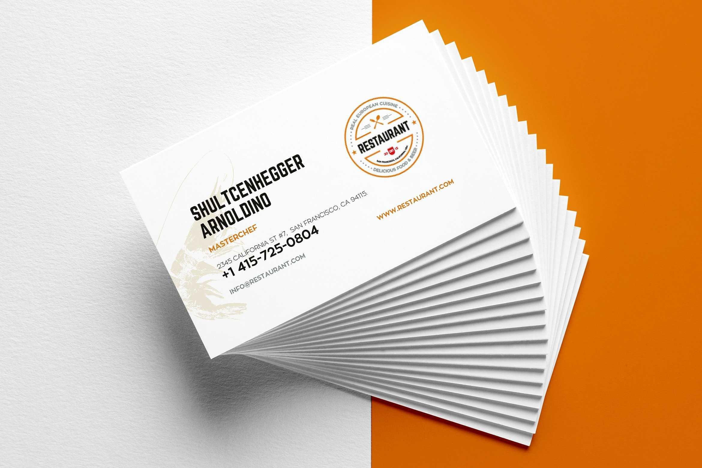 29+ Creative Restaurant Business Card Templates - Ai, Apple With Regard To Food Business Cards Templates Free