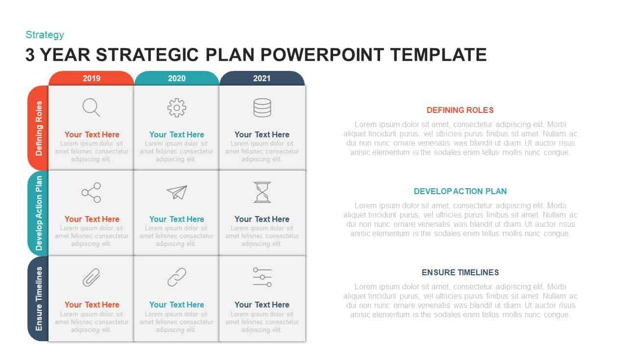 3 Year Strategic Plan Powerpoint Template & Kaynote Throughout Strategy Document Template Powerpoint