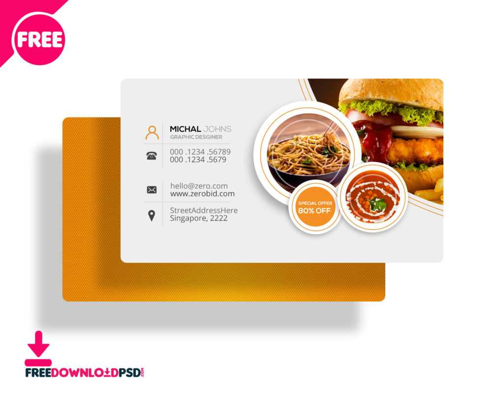 30+ Delicate Restaurant Business Card Templates | Decolore For Restaurant Business Cards Templates Free
