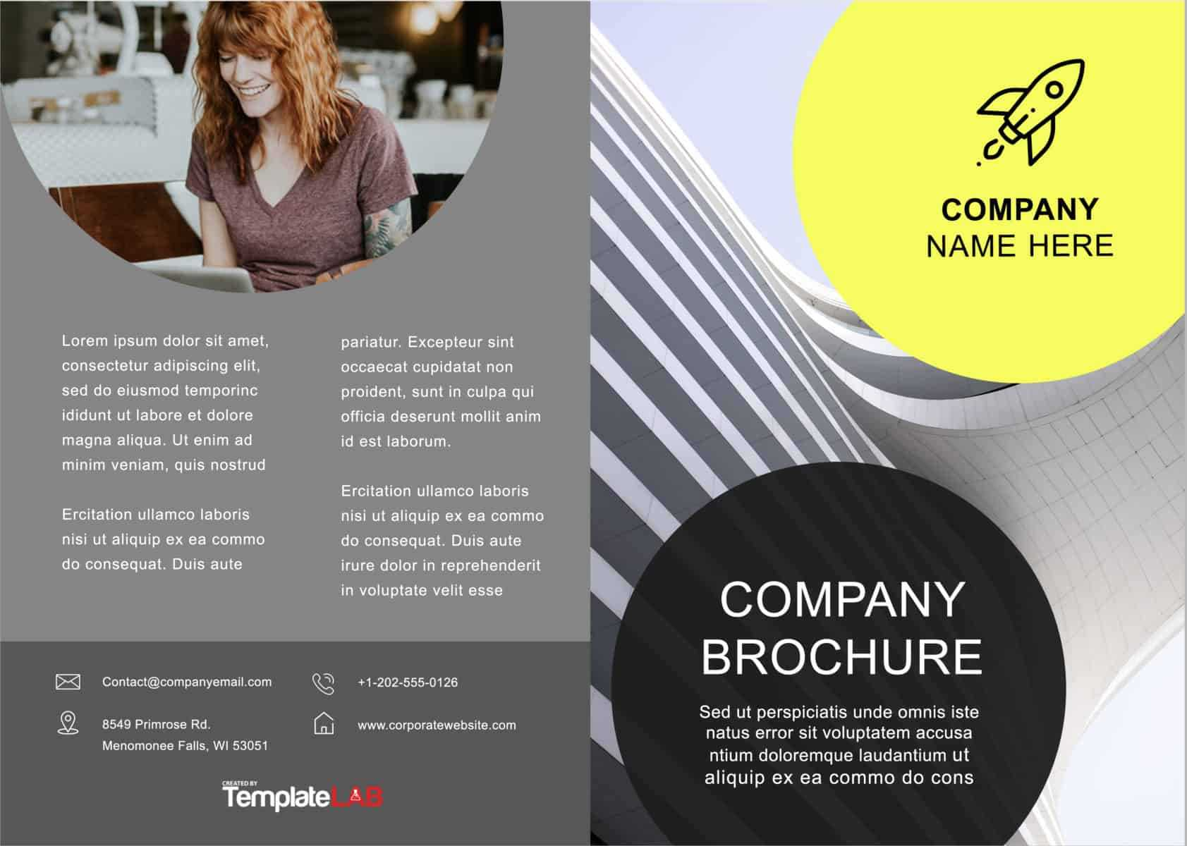 33 Free Brochure Templates (Word + Pdf) ᐅ Templatelab With Free Template For Brochure Microsoft Office