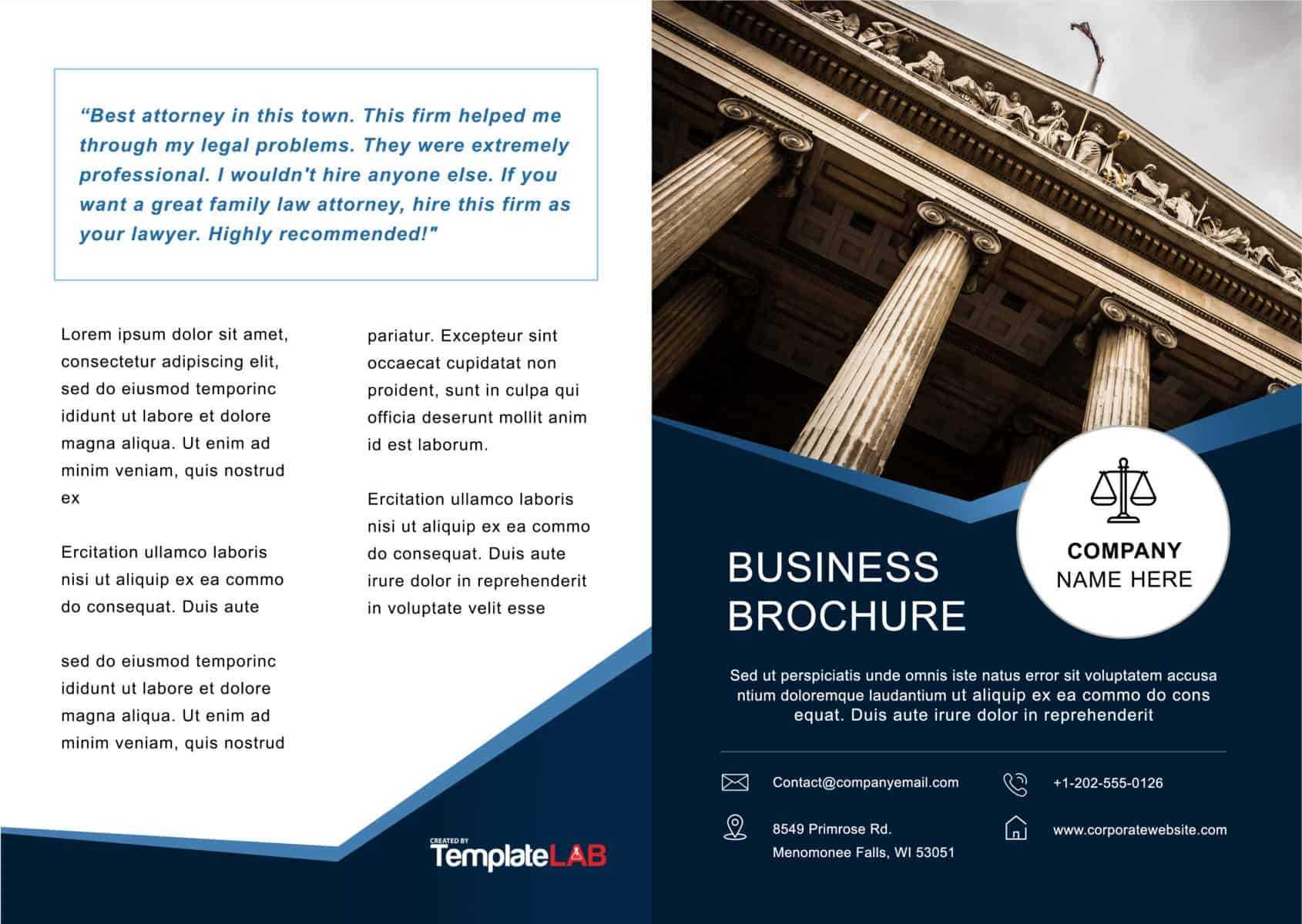 33 Free Brochure Templates (Word + Pdf) ᐅ Templatelab With Microsoft Word Brochure Template Free