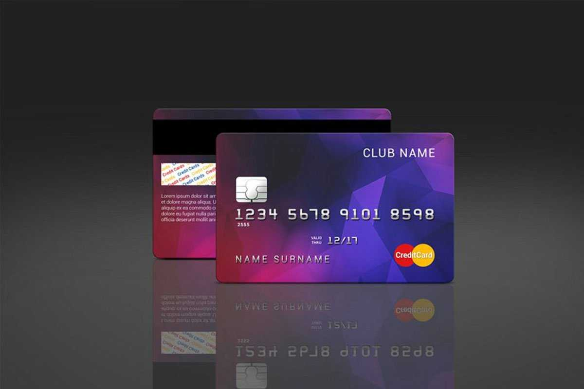 35 Free And Premium Credit Card Mockups - Colorlib Intended For Credit Card Templates For Sale