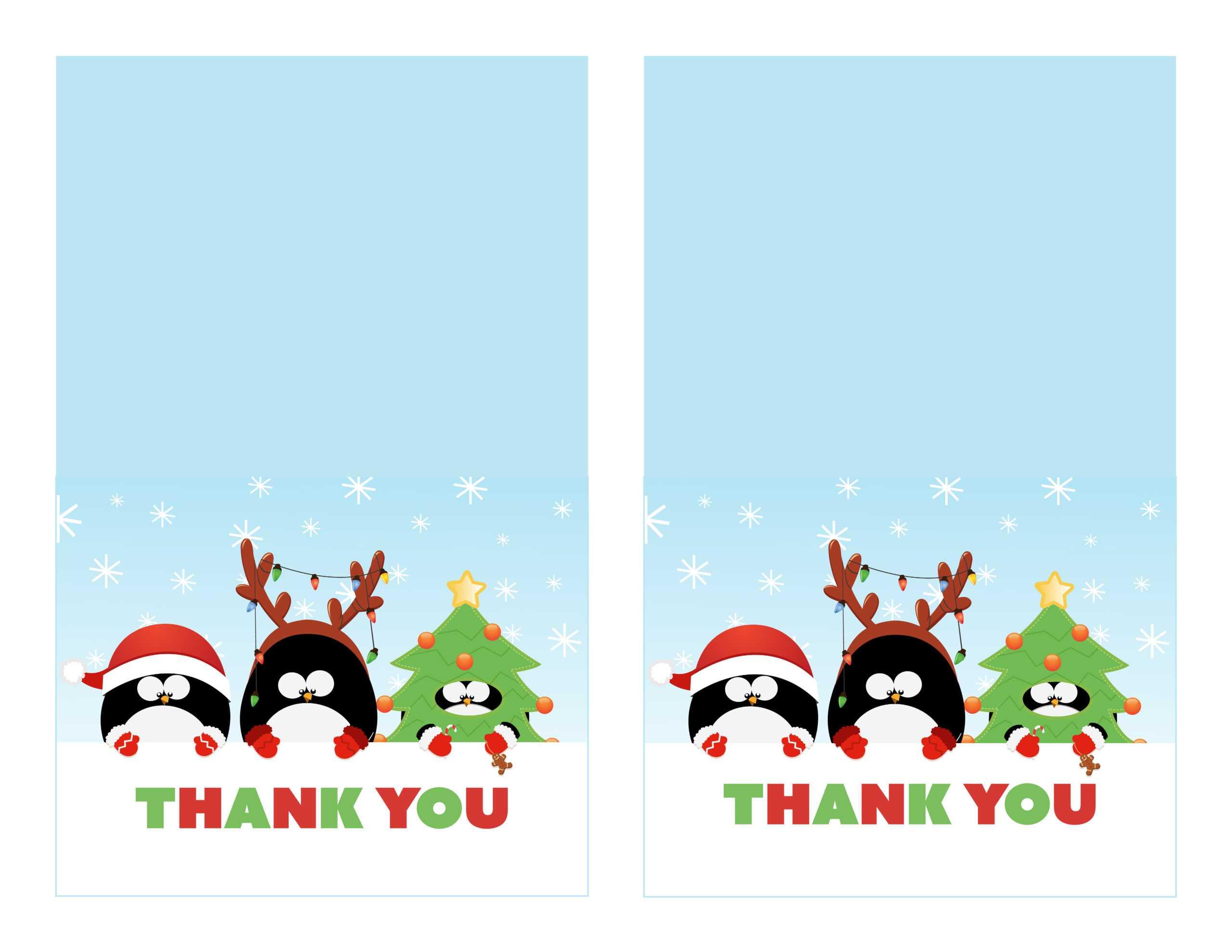36 Adding Christmas Thank You Card Templates Free Download Intended For Christmas Thank You Card Templates Free