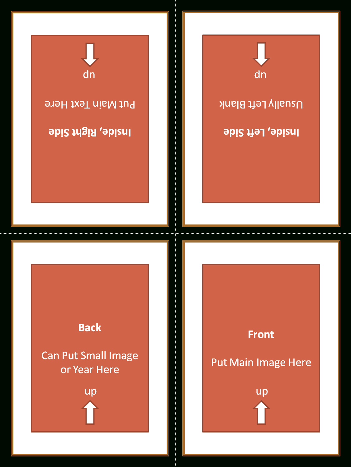4 Fold Card Template ] - Alfa Img Showing Gt Foldable Within Quarter Fold Greeting Card Template