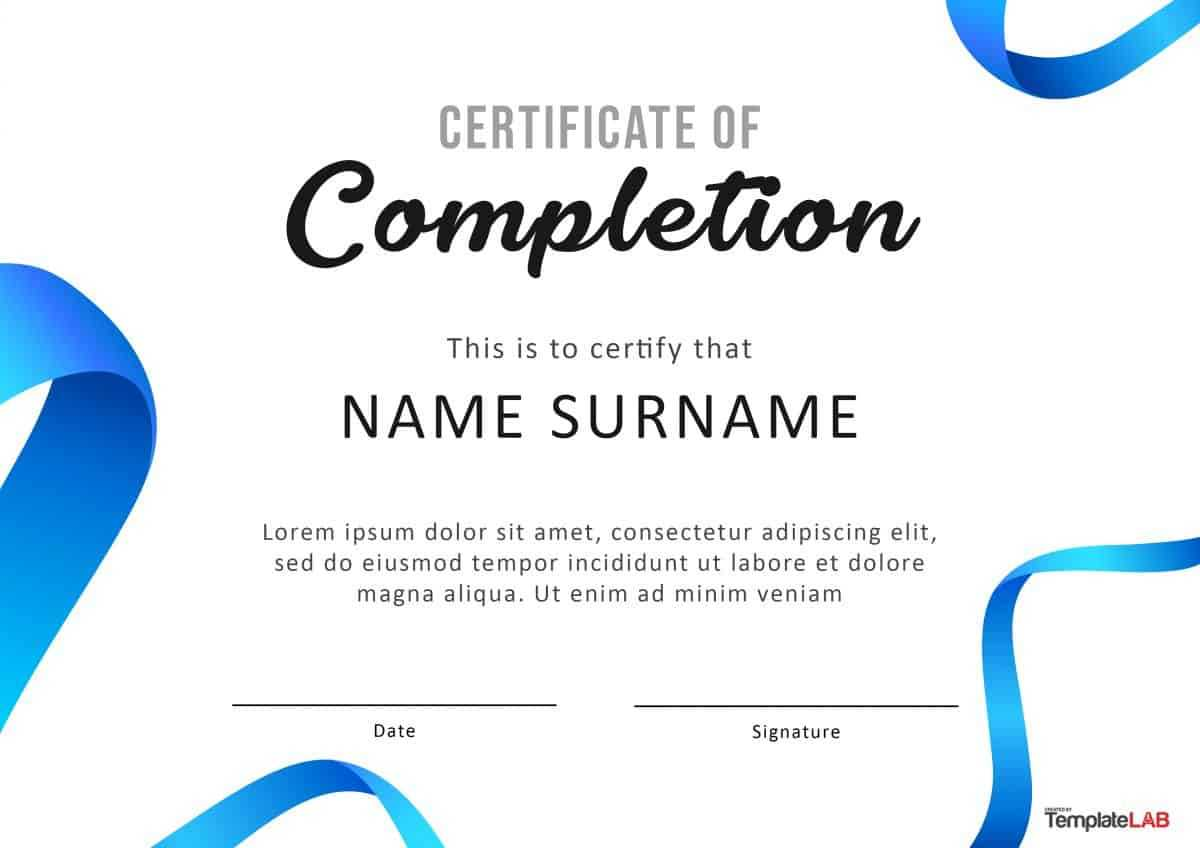 40 Fantastic Certificate Of Completion Templates [Word In Attendance Certificate Template Word