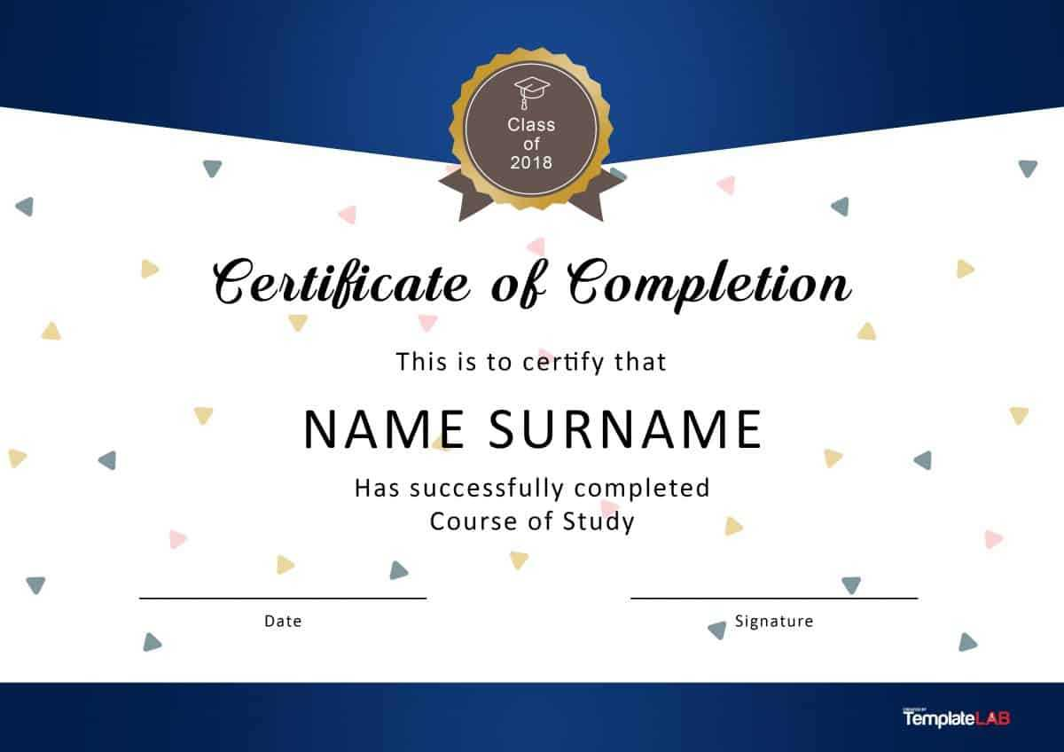 40 Fantastic Certificate Of Completion Templates [Word In Graduation Certificate Template Word