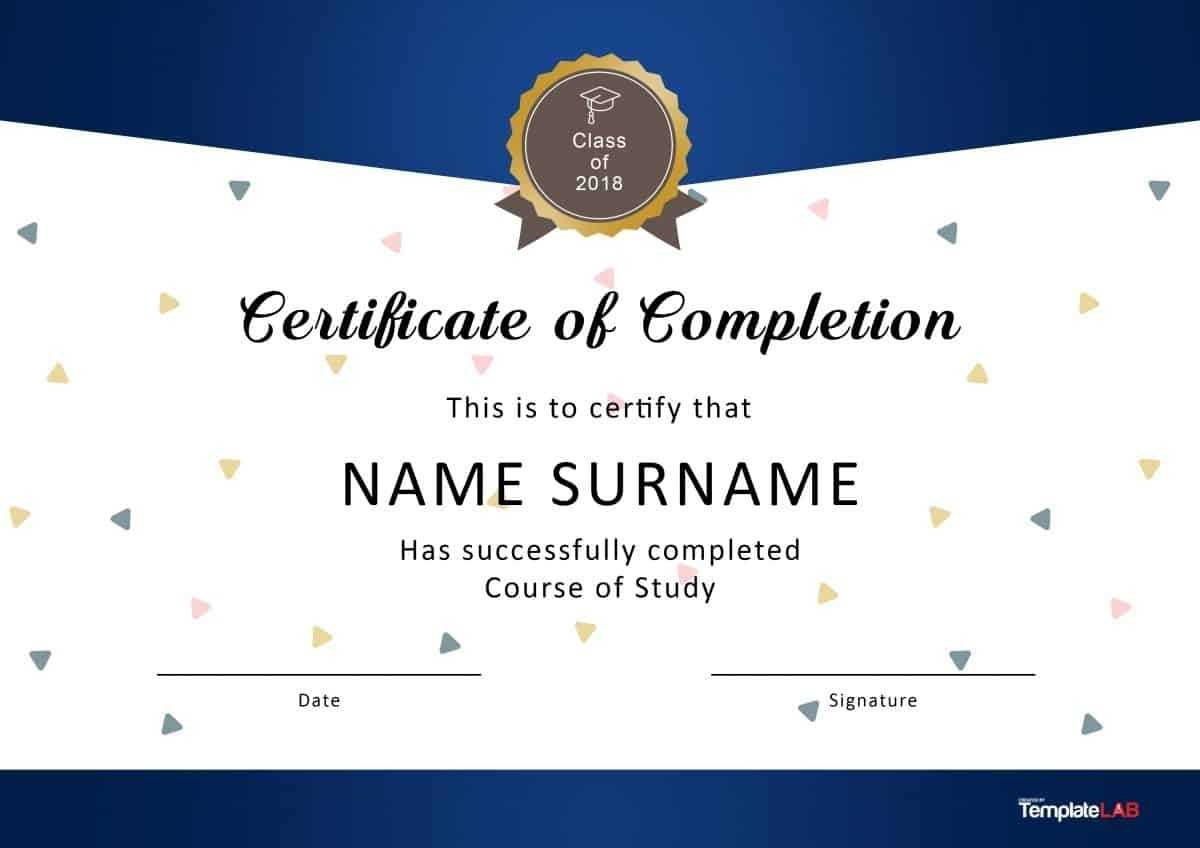 40 Fantastic Certificate Of Completion Templates [Word With Throughout Certificate Of Completion Word Template