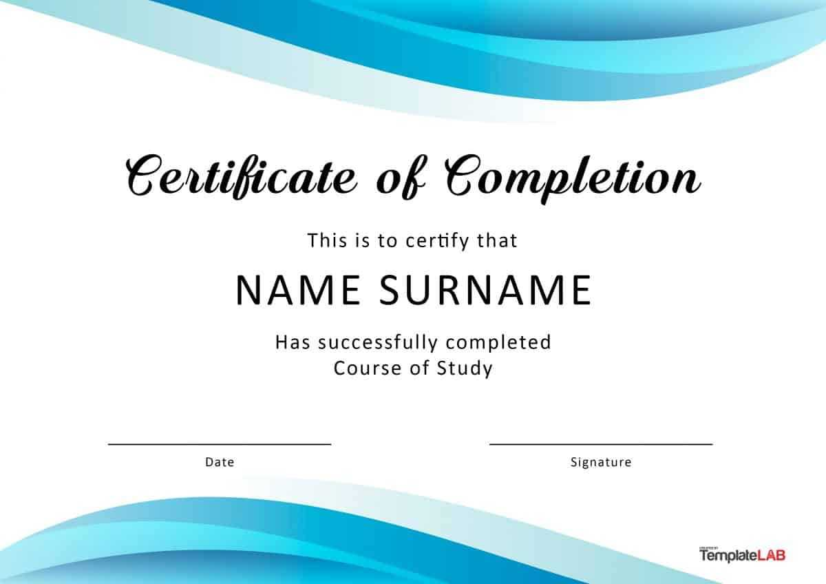 40 Fantastic Certificate Of Completion Templates [Word Within Certificate Of Participation Template Ppt