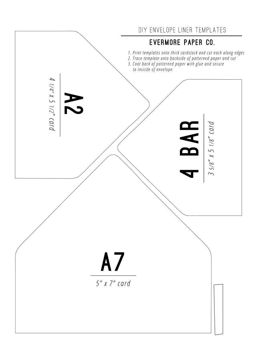 40+ Free Envelope Templates (Word + Pdf) ᐅ Templatelab For Envelope Templates For Card Making