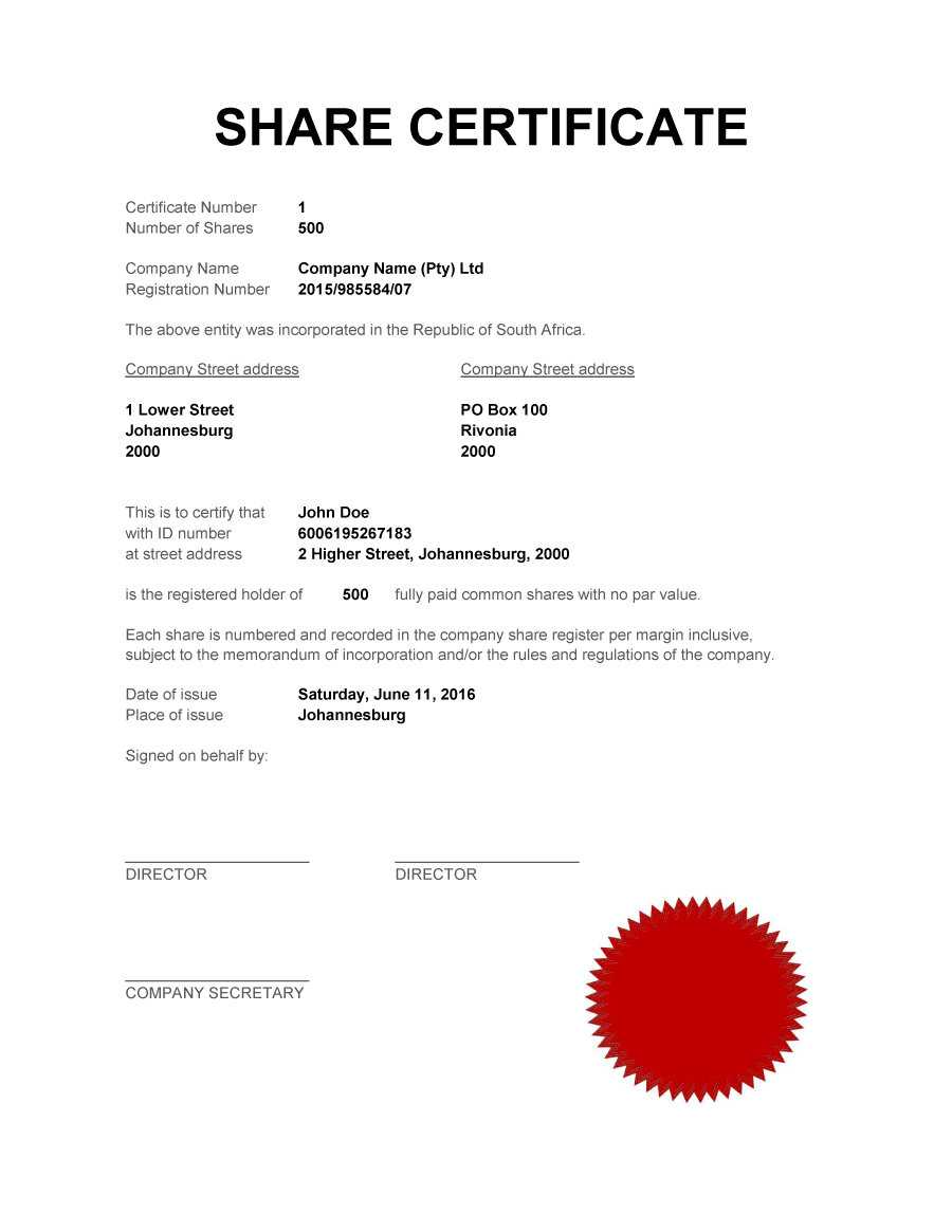 40+ Free Stock Certificate Templates (Word, Pdf) ᐅ Templatelab Inside Shareholding Certificate Template