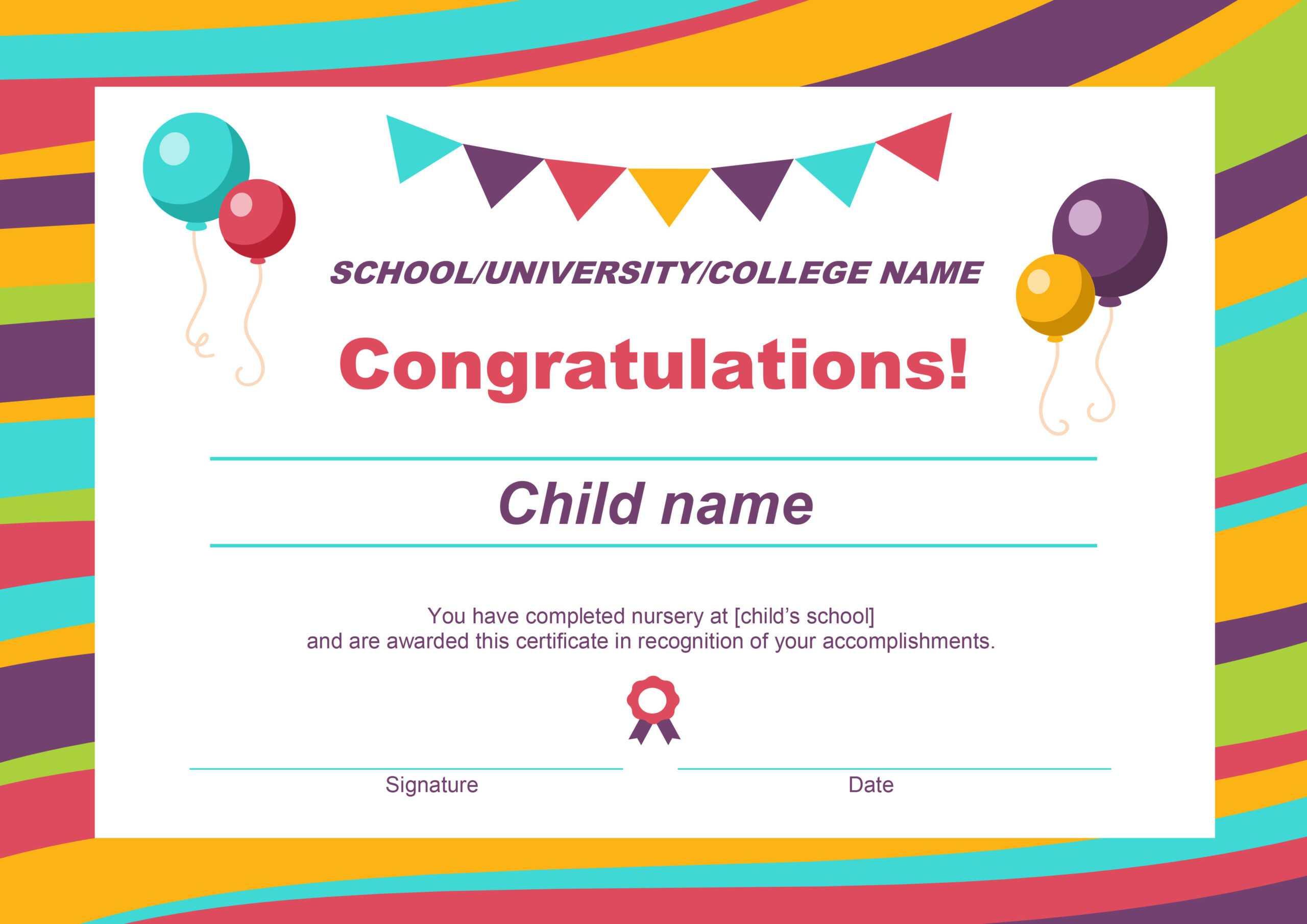 50 Free Creative Blank Certificate Templates In Psd Within Free Printable Certificate Templates For Kids