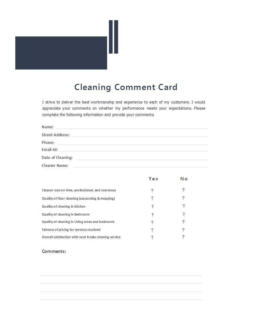 50 Printable Comment Card & Feedback Form Templates ᐅ With Customer Information Card Template