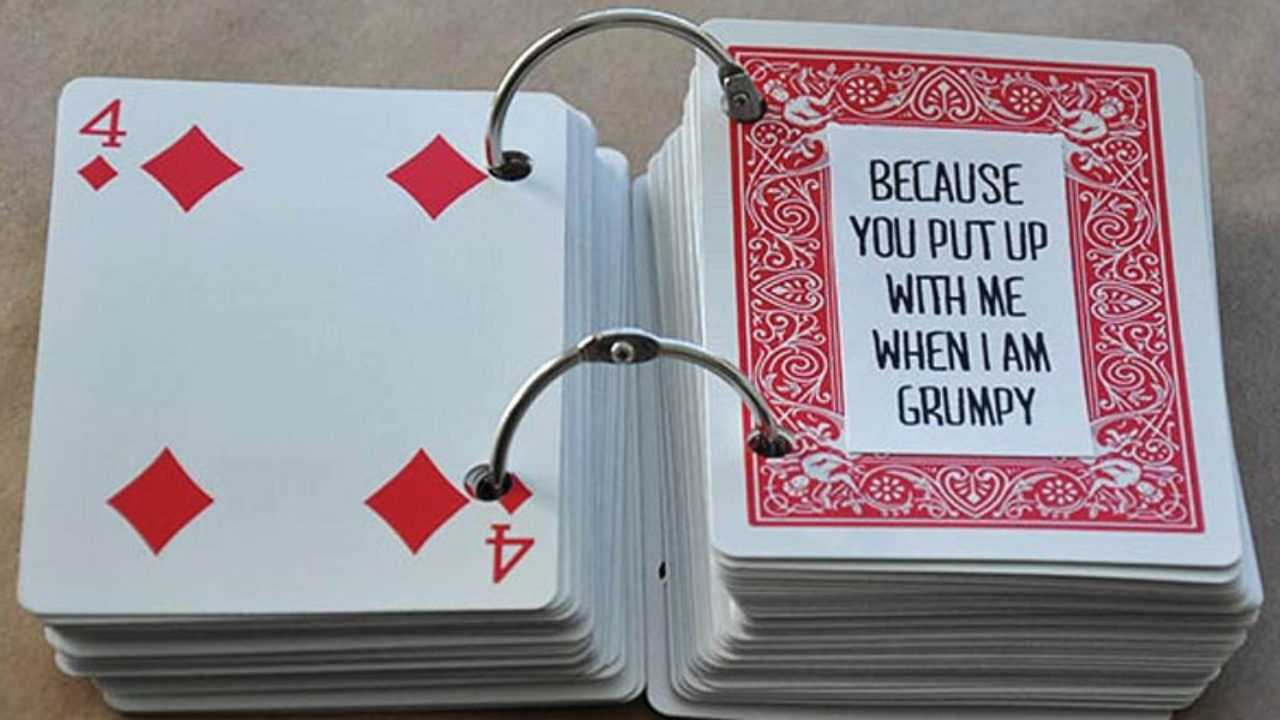 52 Things I Love About You Cards - Health Journal Inside 52 Things I Love About You Deck Of Cards Template