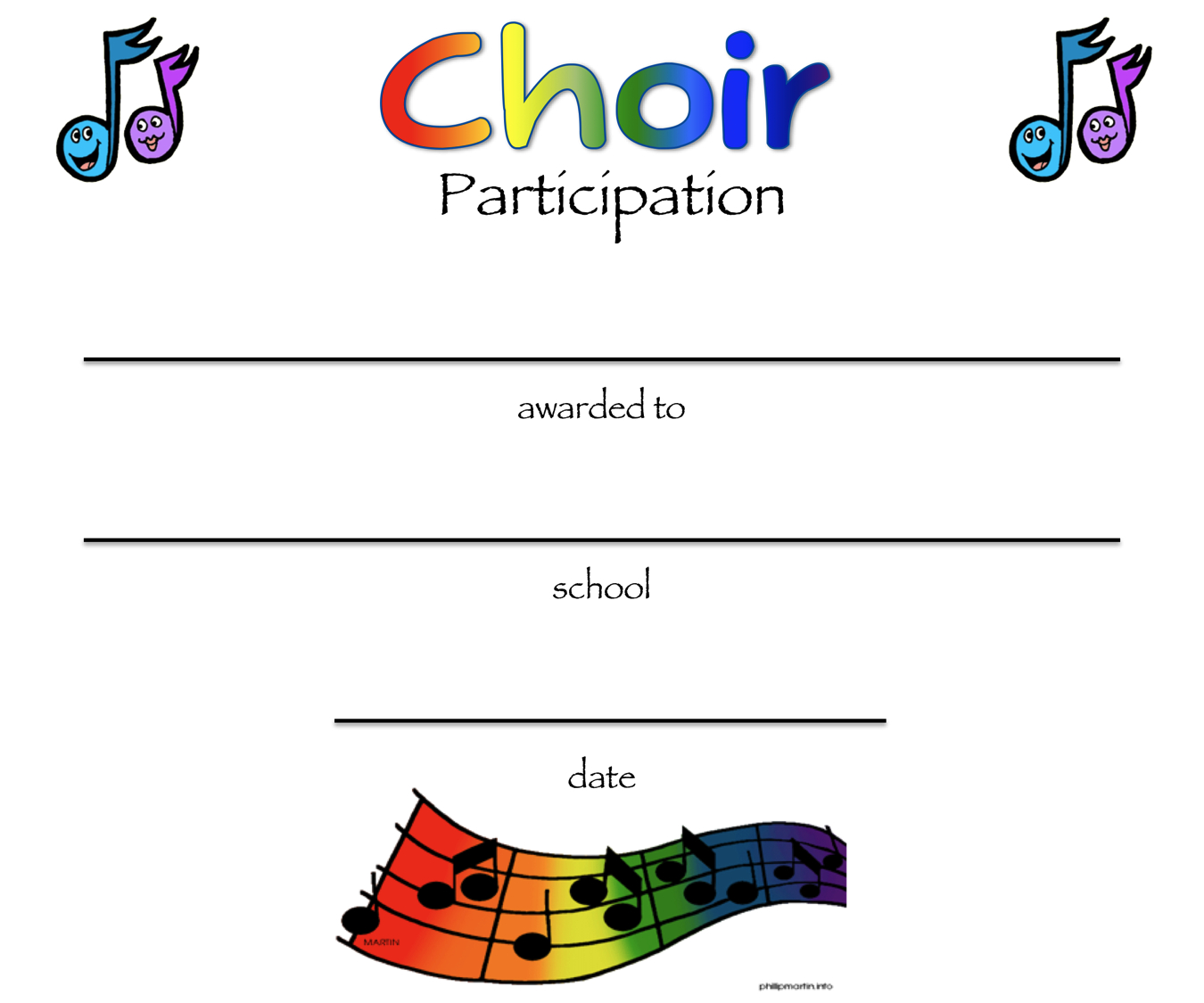 8+ Free Choir Certificate Of Participation Templates – Pdf Pertaining To Choir Certificate Template