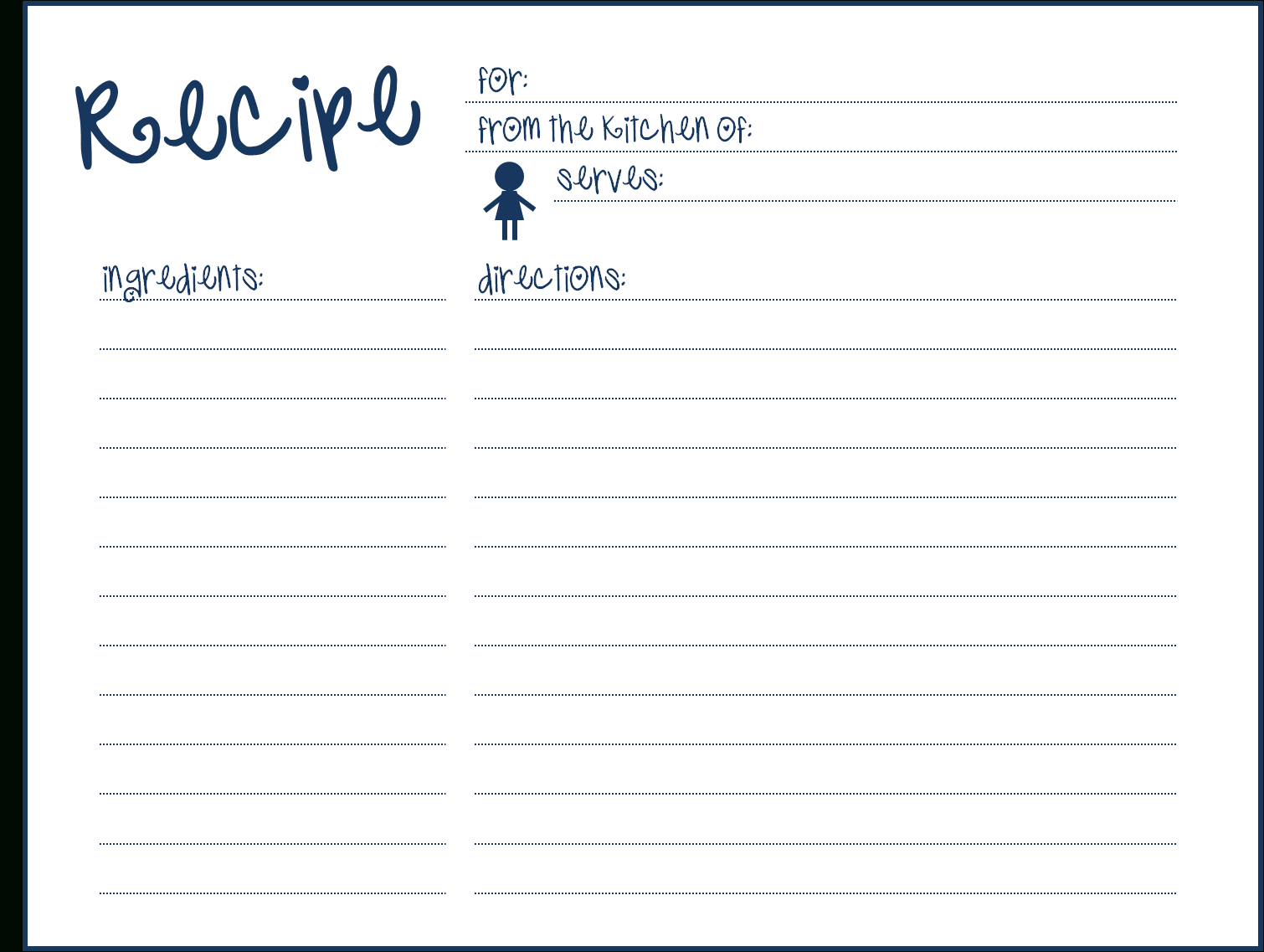 8 Free Recipe Card Templates Excel Pdf Formats Here Are My Within Fillable Recipe Card Template