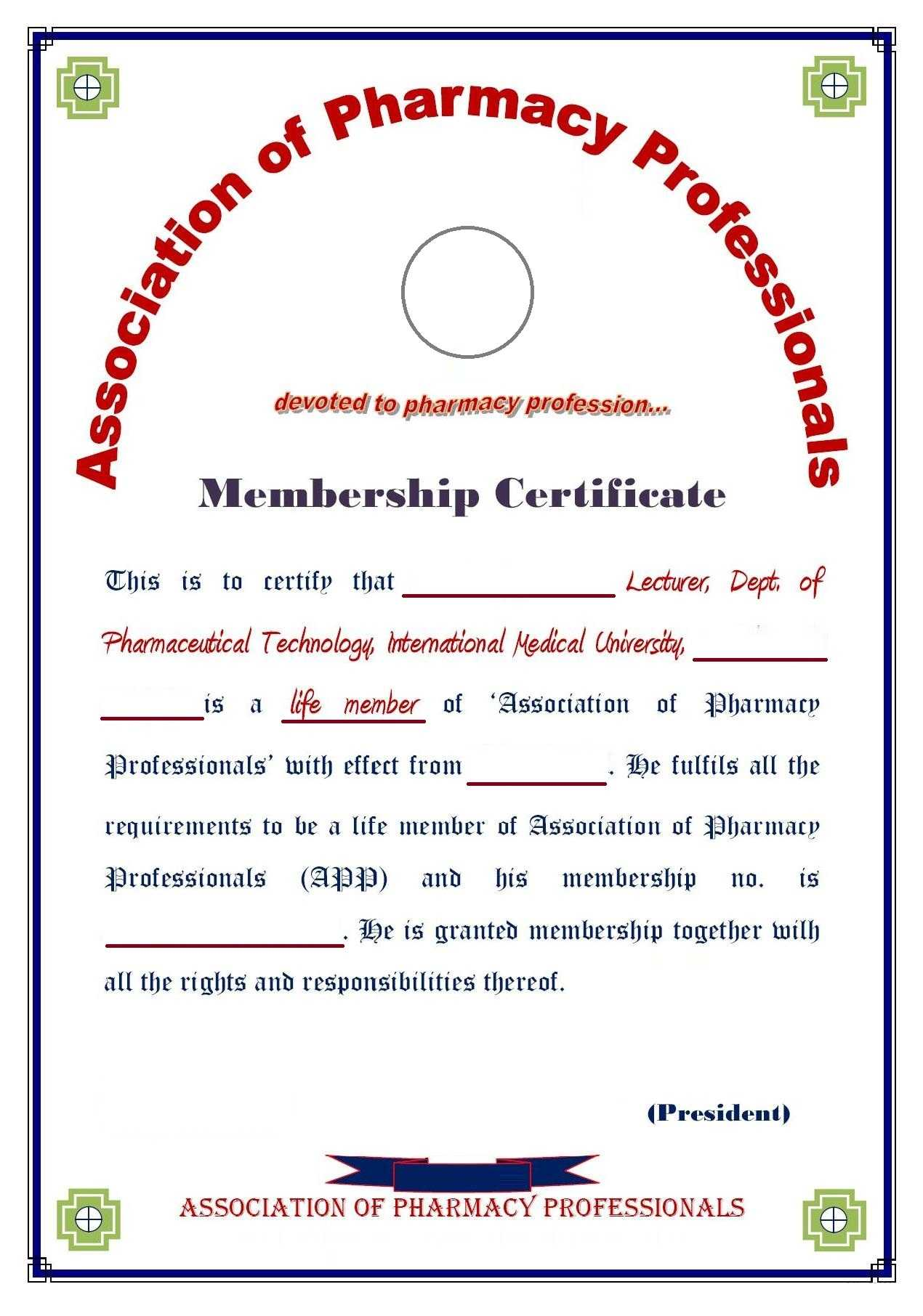 8+ Medical Membership Certificate Templates - Pdf | Free For Life Membership Certificate Templates