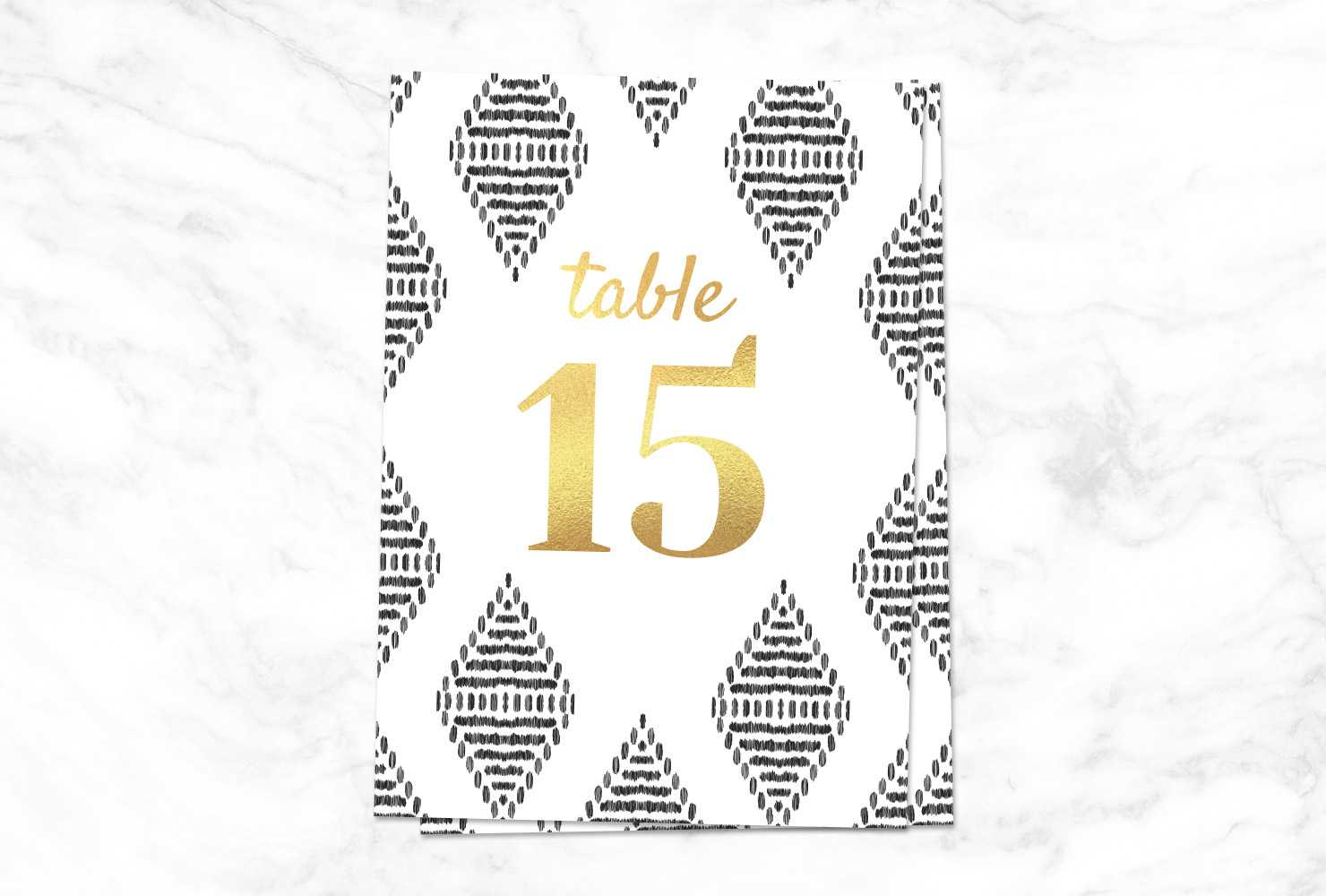 9 Printable Table Numbers To Add Elegance To Your Regarding Reserved Cards For Tables Templates