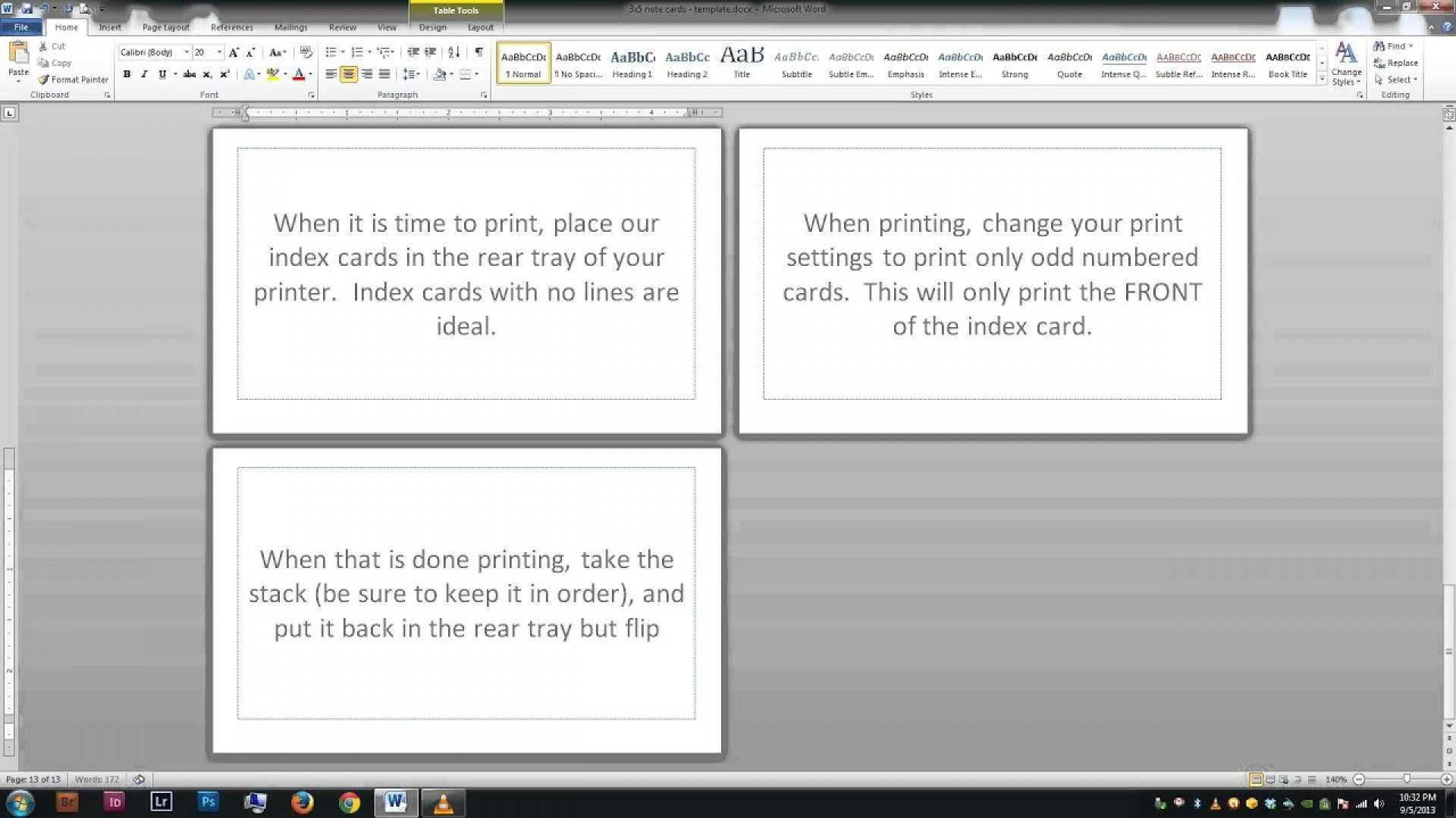 95 Free 3X5 Index Card Template Microsoft Word Download For With 3X5 Note Card Template For Word
