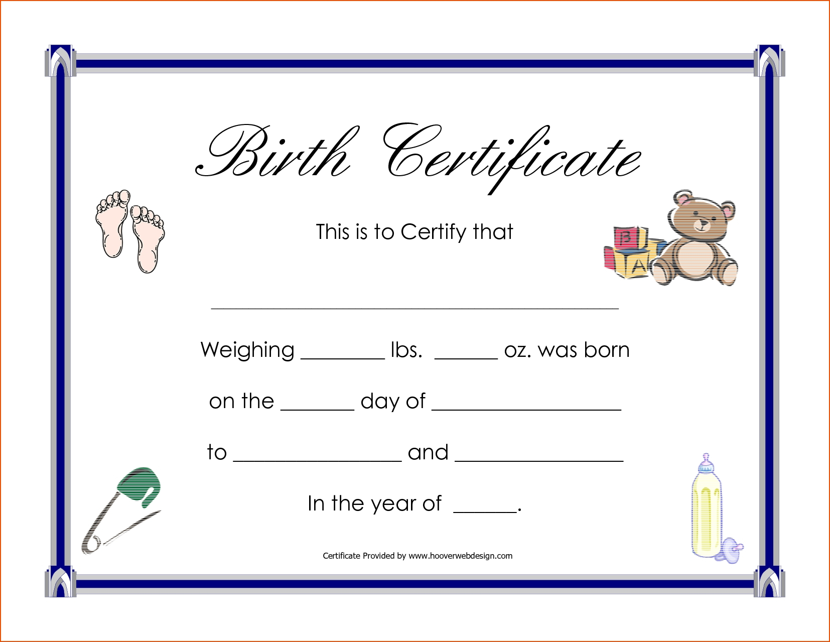 A Birth Certificate Template | Safebest.xyz For Editable Birth Certificate Template